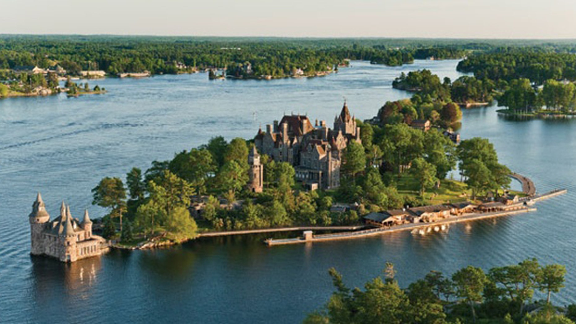 Boldt Castle is located on Heart Island in New York's Thousand Islands.