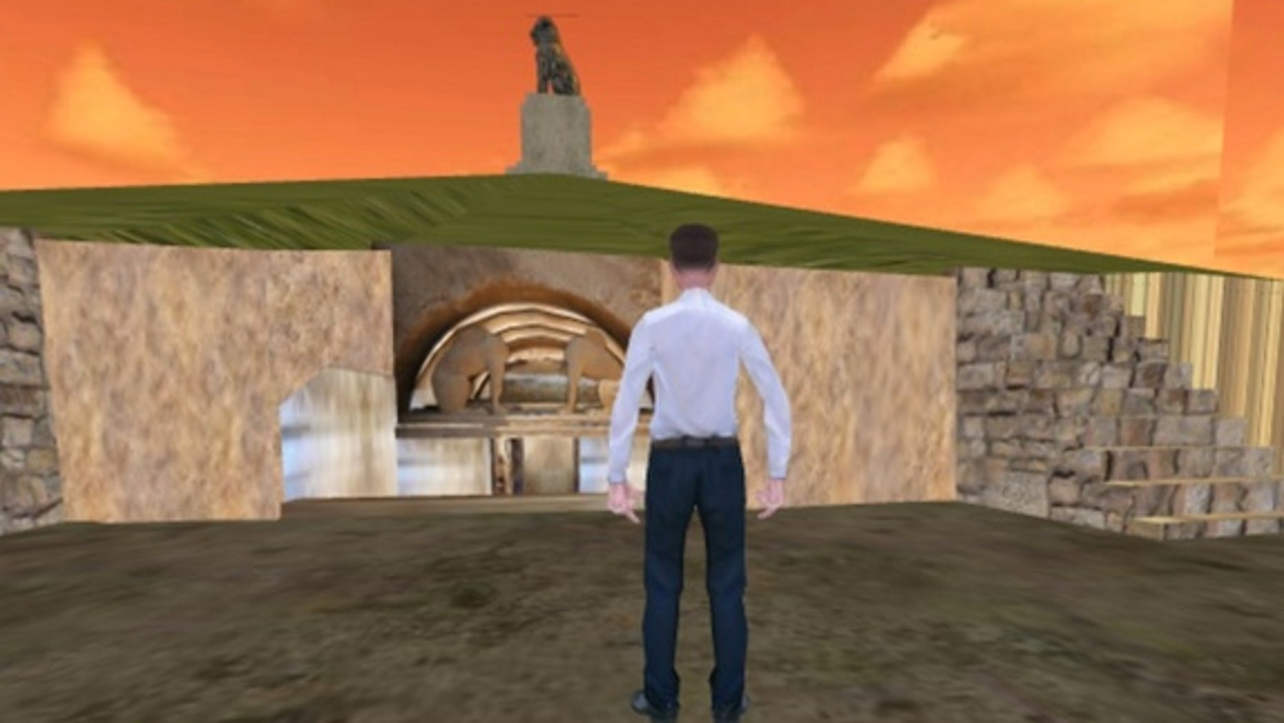 Taking some aesthetic cues from a mid-1990s video game, an interactive reconstruction on amfipoli-news.com lets users move through the tomb with an avatar.