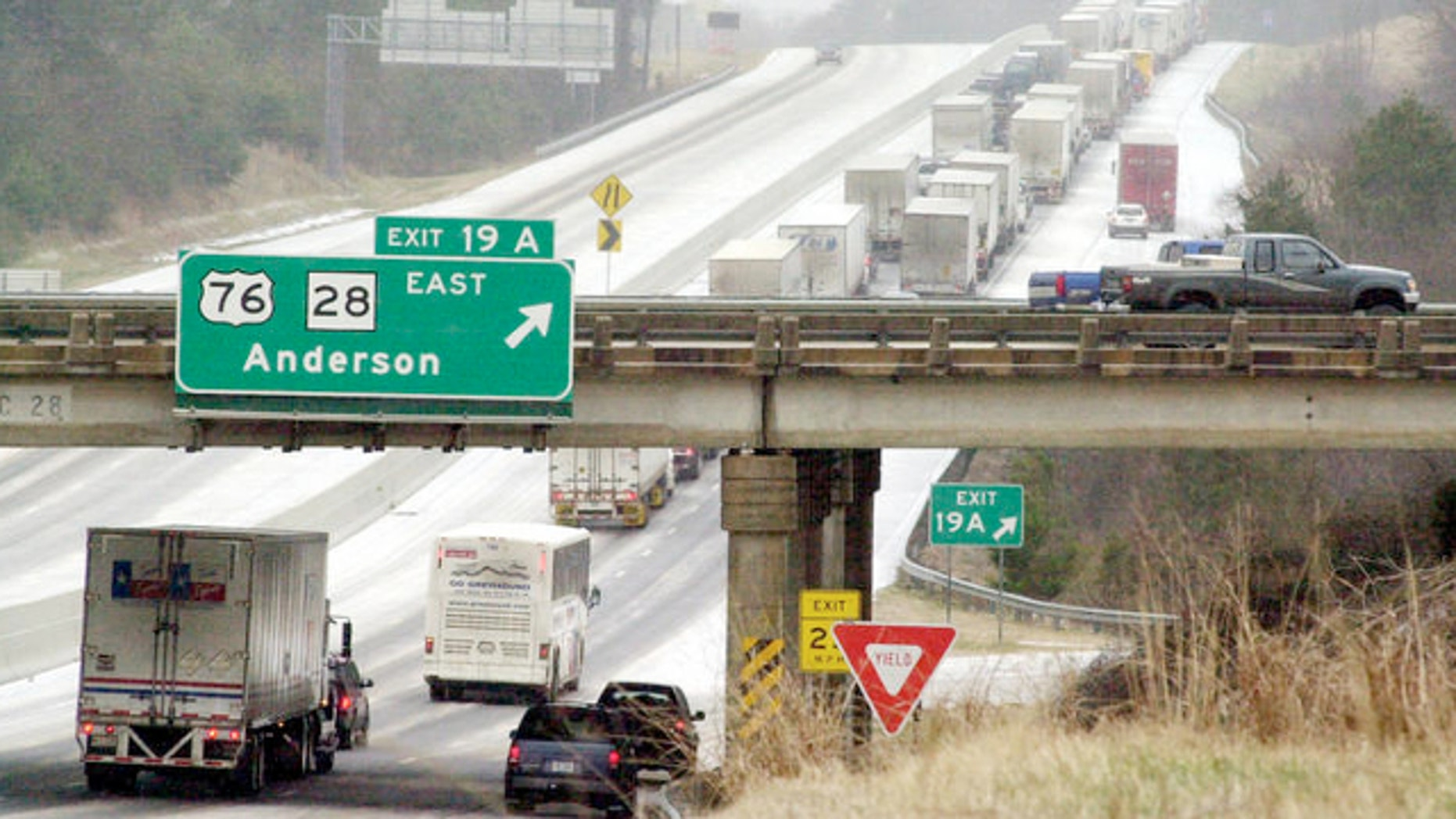 Jan. 29, 2005: This photo shows traffic on Interstate 85 in Anderson, South Carolina.