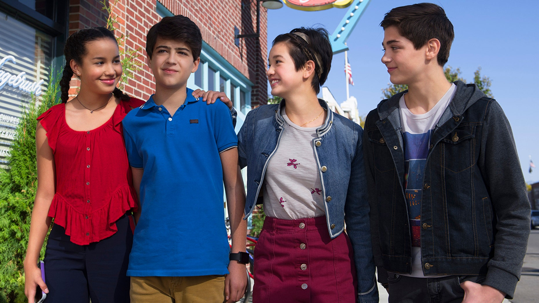 "ANDI MACK - In ""Andi Mack,"" a series about a 13 year-old girl and her friends each figuring out who they are, the teen characters model inclusion and respect for others. (Disney Channel/Fred Hayes)"