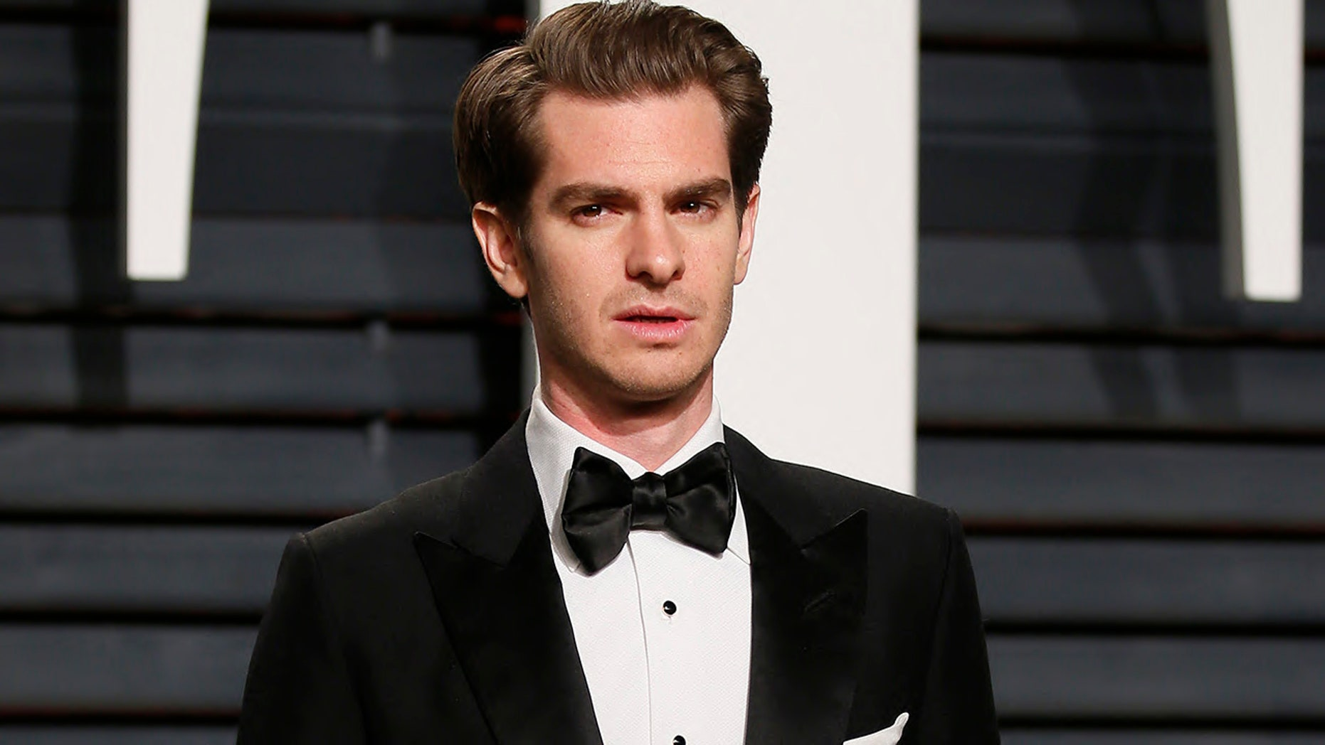 Andrew Garfield arrives at the Oscars Vanity Fair party on Feb. 27, 2017. The actor recently discussed his sexuality.