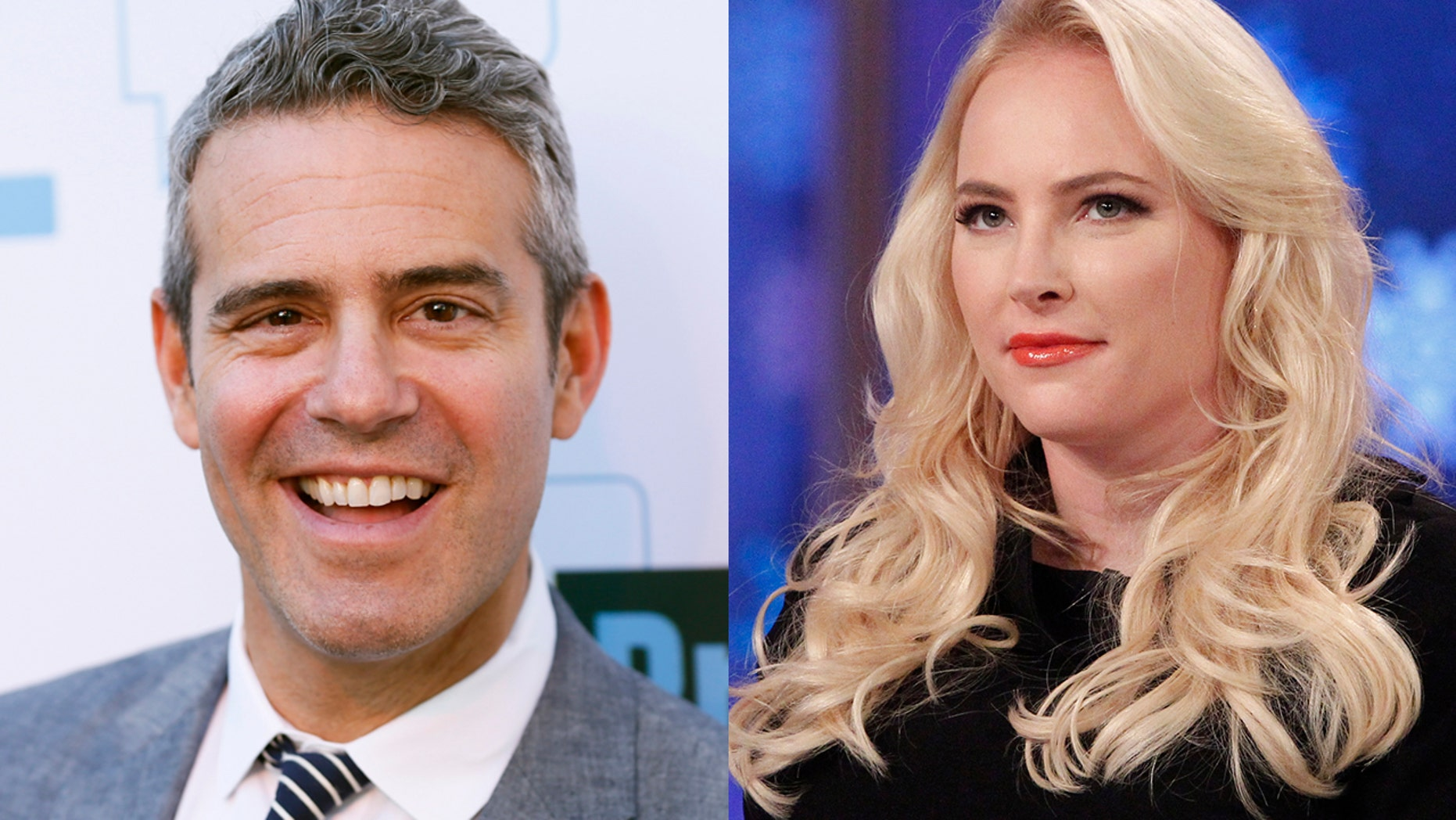 "Bravo's Andy Cohen talks about his friendship with ""View"" host Meghan McCain despite being on the opposite ends of the political spectrum."