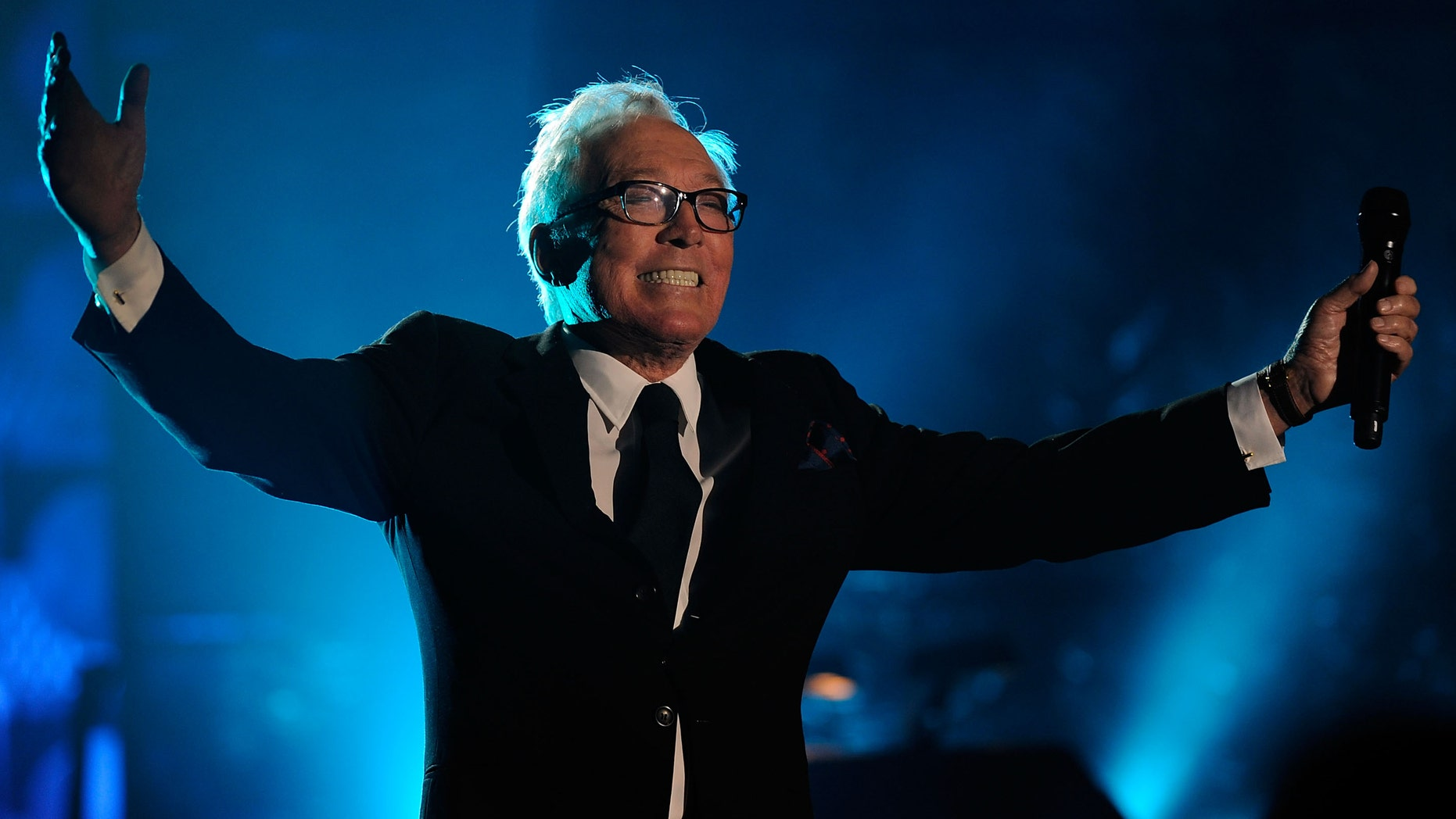 NEW YORK - JUNE 18:  Singer/Songwriter Andy Williams performs on stage during the 40th Annual Songwriters Hall of Fame Ceremony at The New York Marriott Marquis on June 18, 2009 in New York City.  (Photo by Larry Busacca/Getty Images for  Songwriters Hall of Fame) *** Local Caption *** Andy Williams
