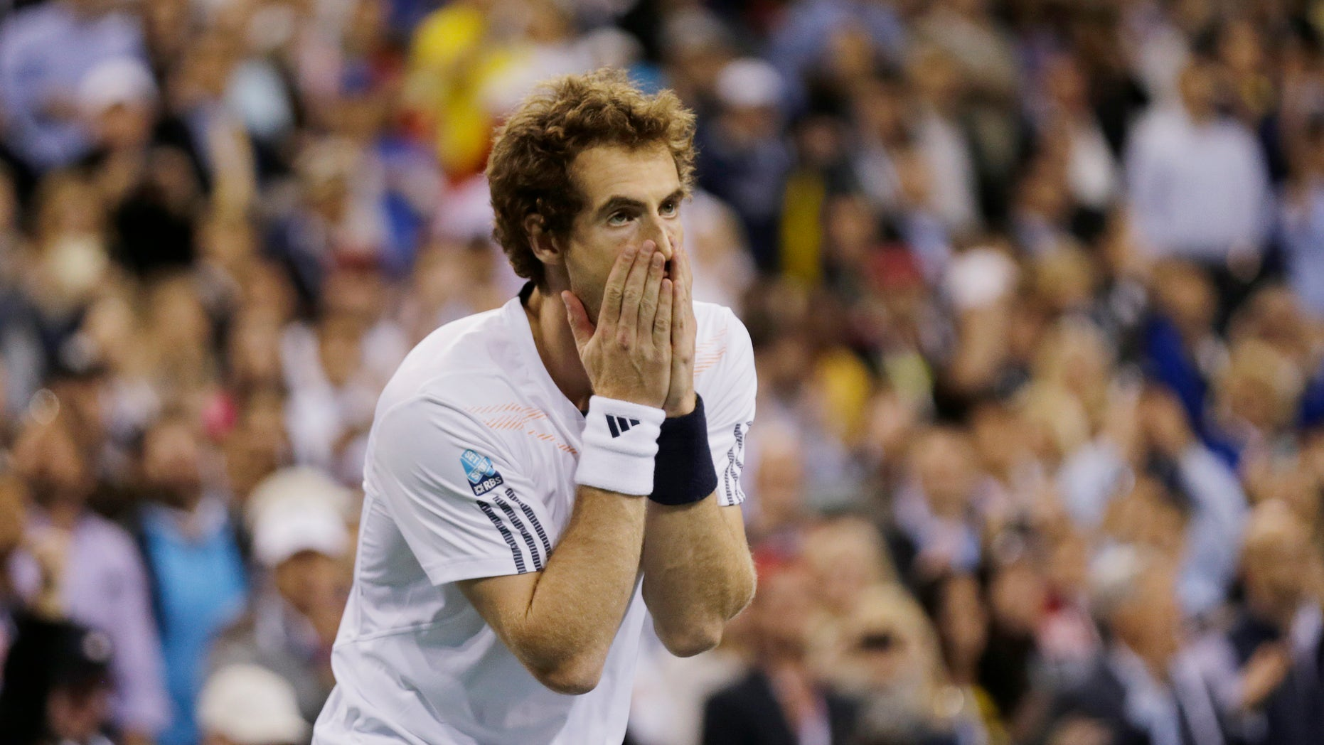 Sept. 10, 2012: Britain's Andy Murray reacts after beating Serbia's Novak Djokovic in the championship match at the 2012 US Open tennis tournament, in New York.