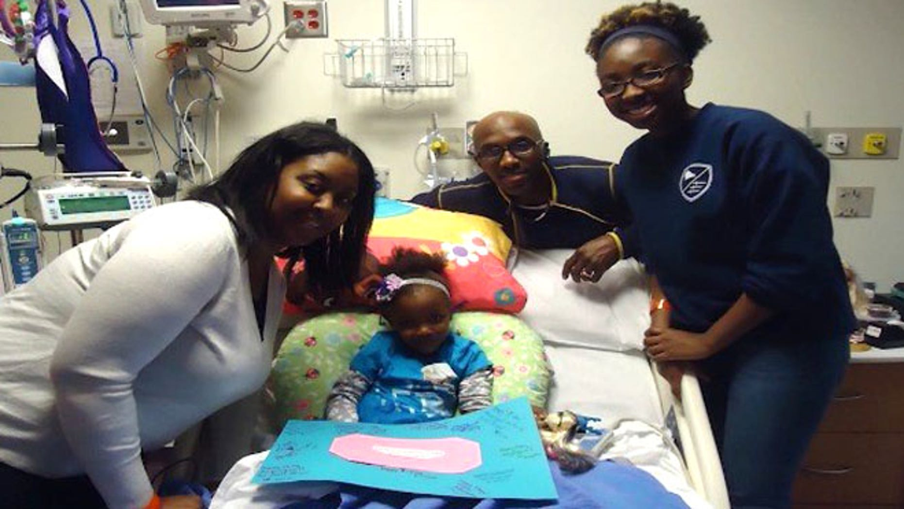 Angelique Walker, 4, is sickle cell free after a life-saving bone marrow transplant from her sister.
