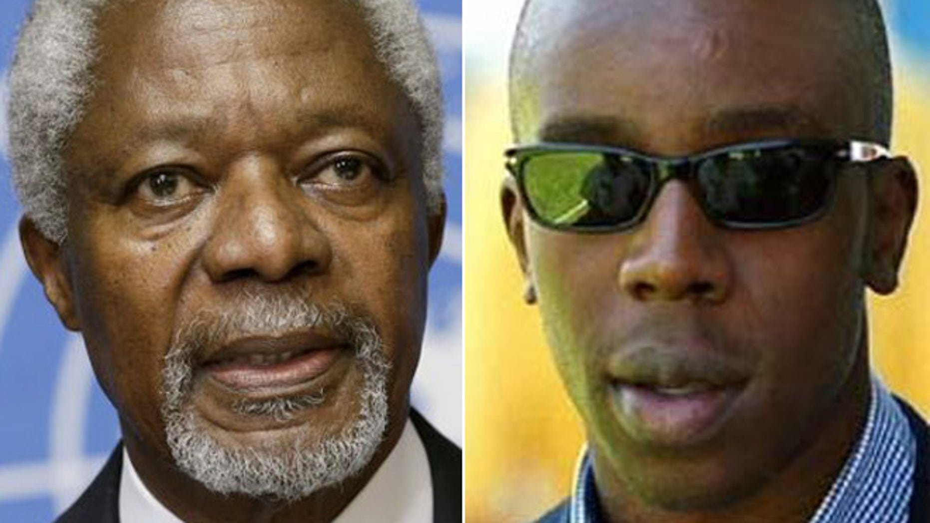 Kofi Annan, (l.), was UN general secretary when his son, Kojo, (r.), was accused of wrongdoing in the oil-for-food program.