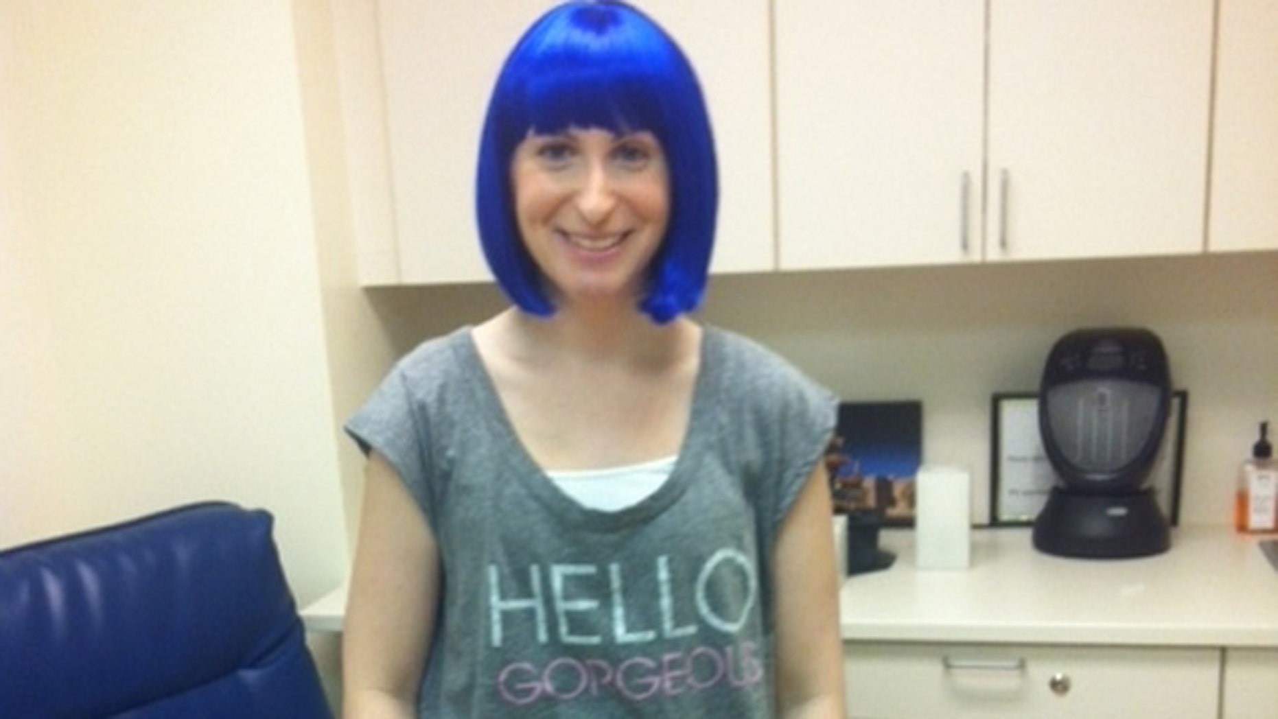 Annie Goodman during a chemotherapy treatment. (Courtesy Annie Goodman)