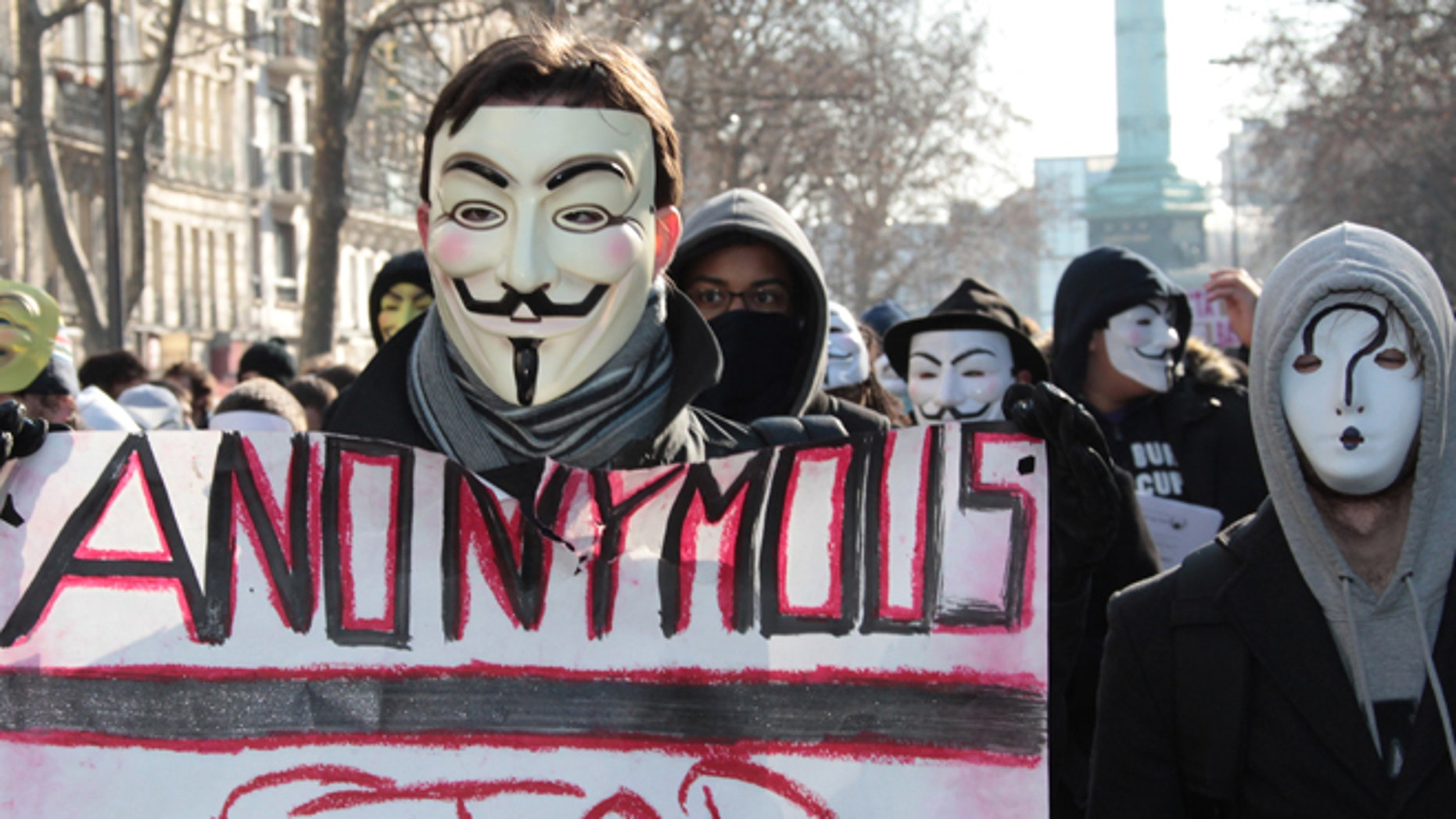 Anonymous hackers, who use the Guy Fawkes mask as a symbol, have mounted millions of attacks against Israeli websites.