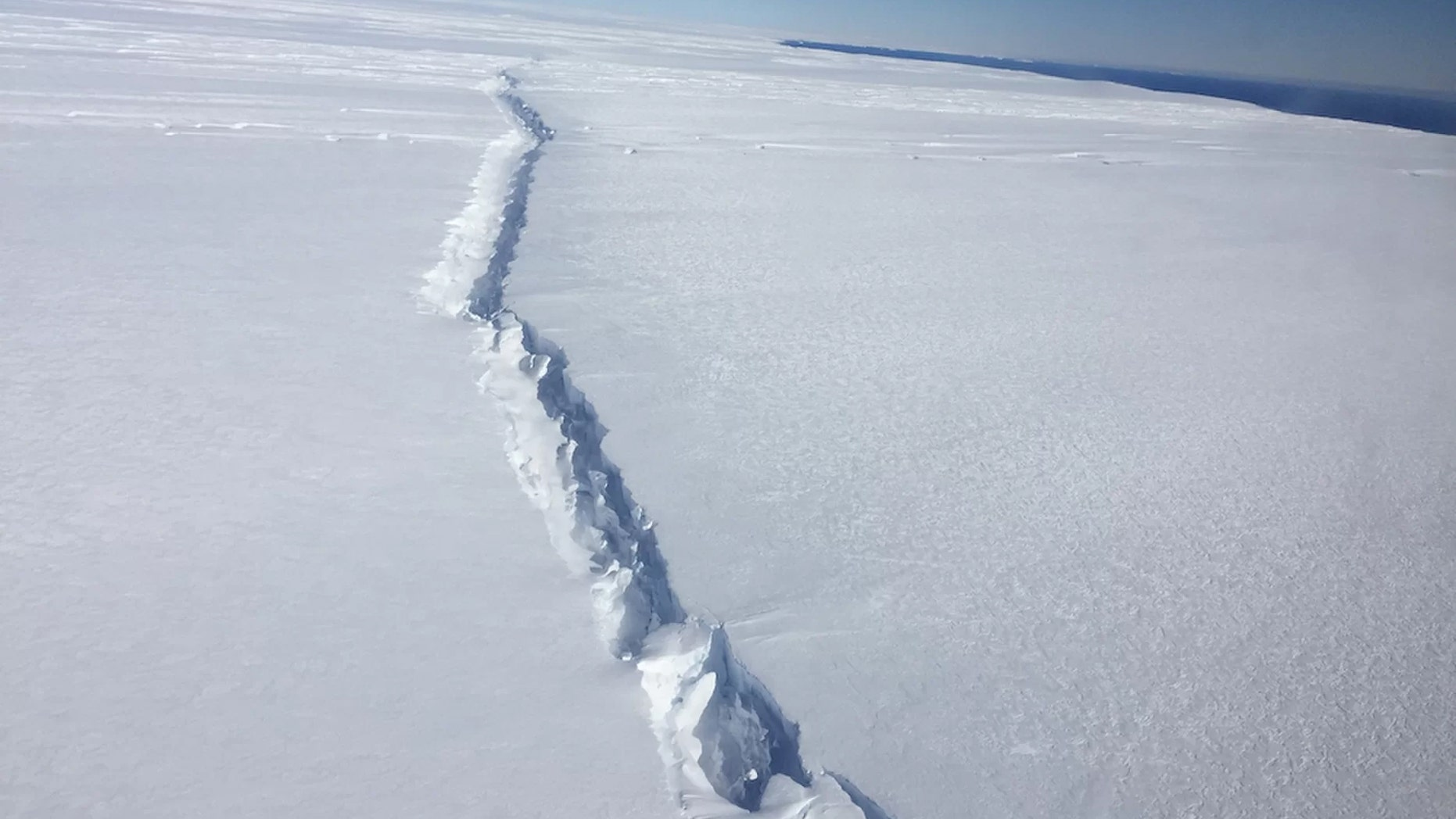 File photo: The A-68 iceberg separated from the Larsen C ice shelf in July 2017. Credit: Nathan Kurtz/NASA