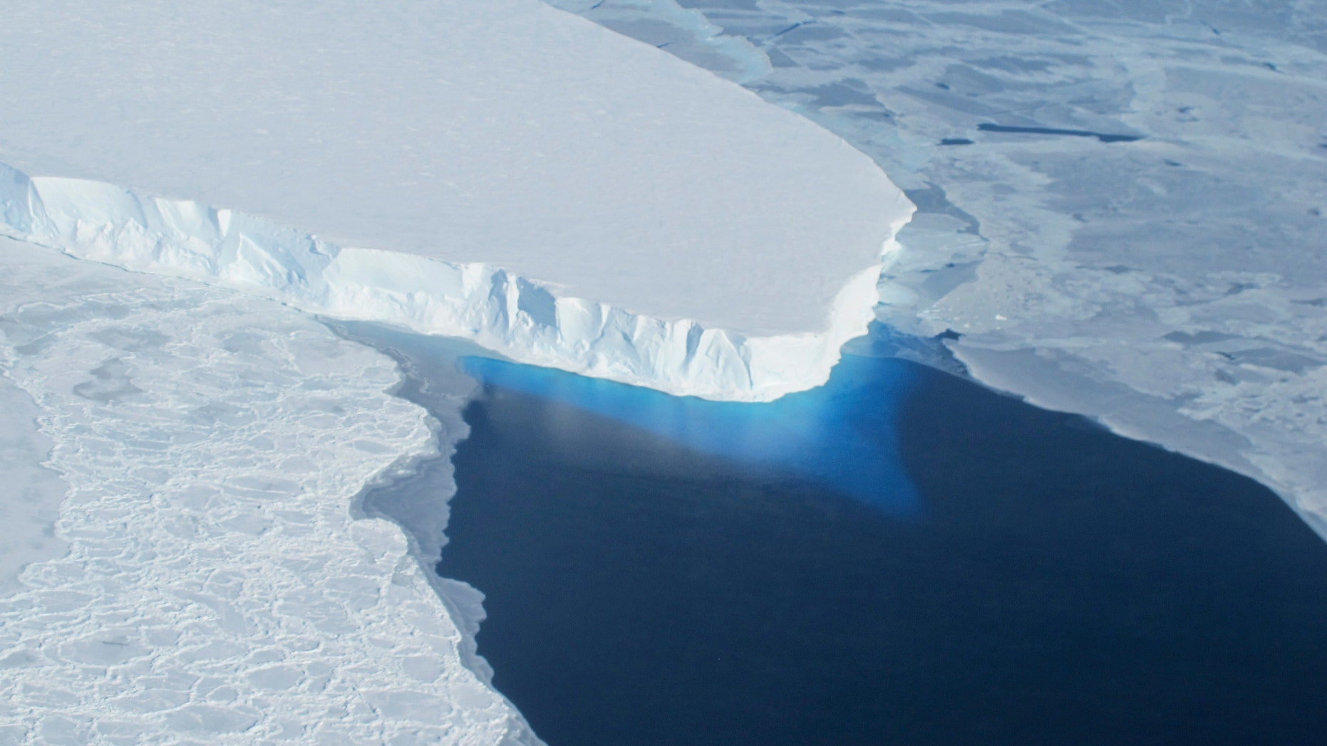 The Thwaites Glacier in Antarctica is seen in this undated NASA image. (REUTERS/NASA/Handout via Reuters)