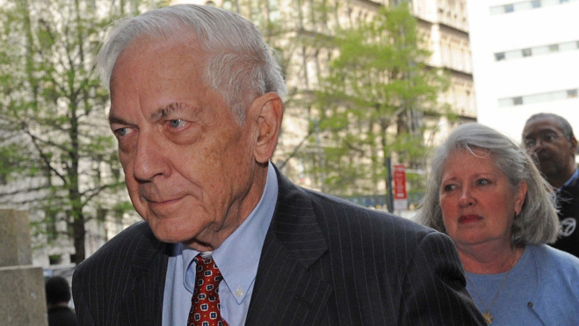 April 29, 2009: Anthony Marshall arrives with his wife Charlene to State Supreme court in New York where Marshall, the son of philanthropist Brooke Astor, was charged with plundering his mothers fortune.