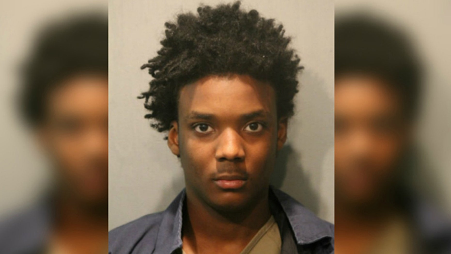 Mugshot for Anthony Moore, 18, charged with murder of Chicago police officer's son.