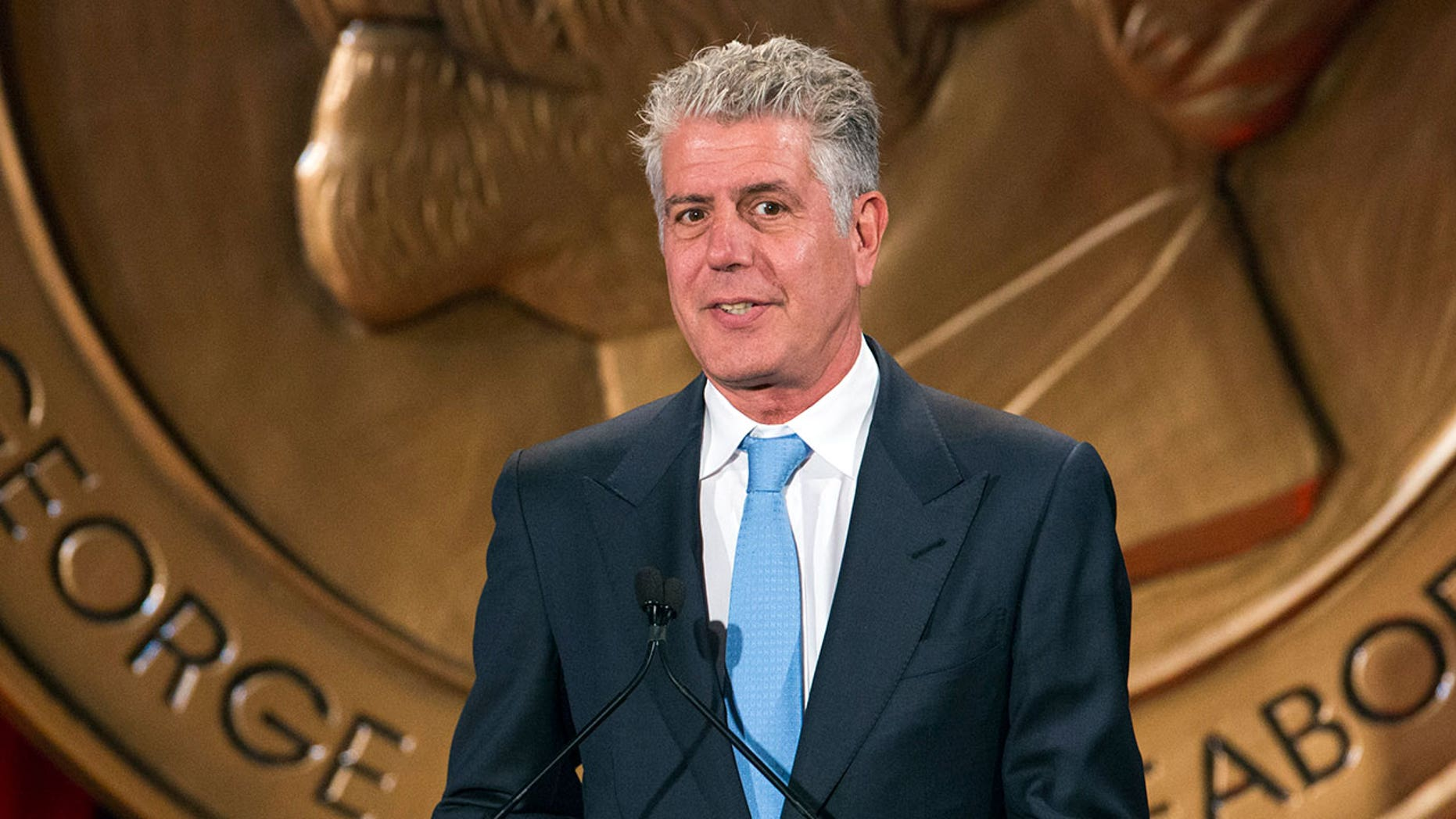 """Bourdain told Travel + Leisure he merely goes """"limp"""" when he's stuck behind slow travelers. """"I don't get angry, I don't tap my feet, I don't huff and puff or glare at people."""""""