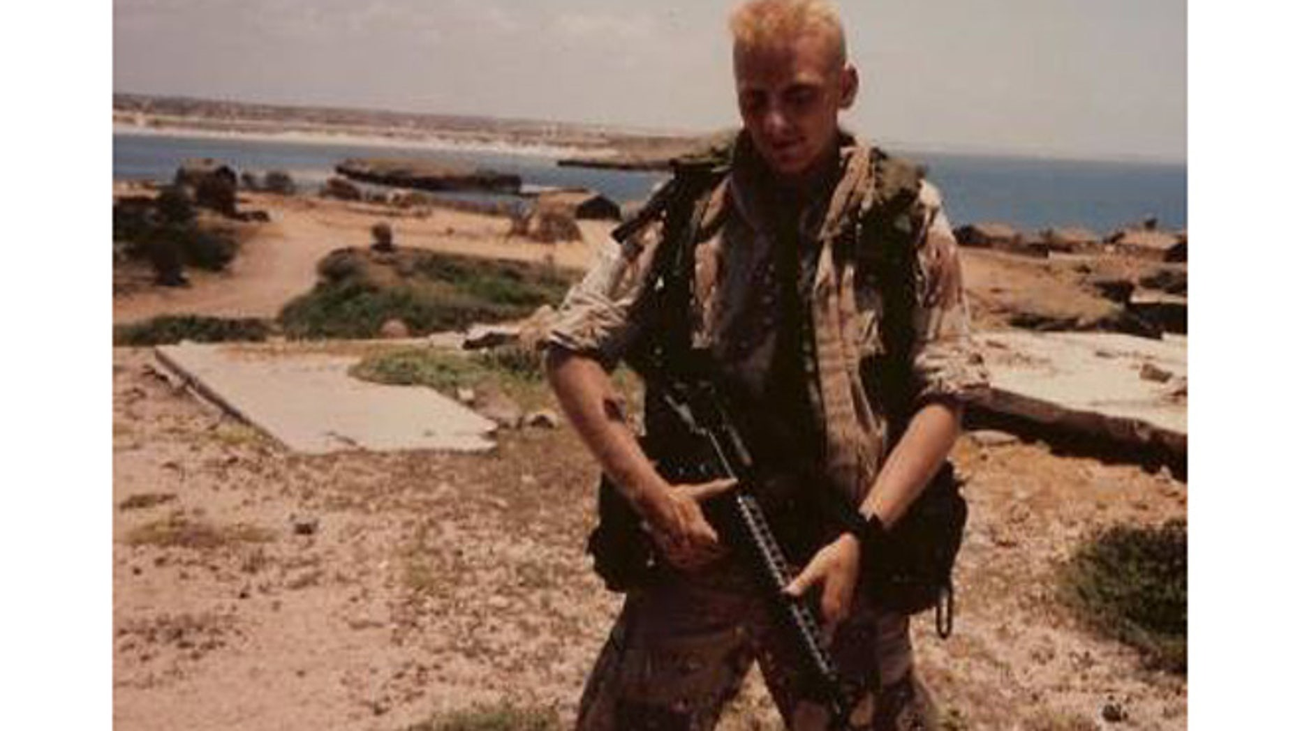 Anthony Hardie, 48, who suffers from Gulf War Illness, is pictured here in 1991.