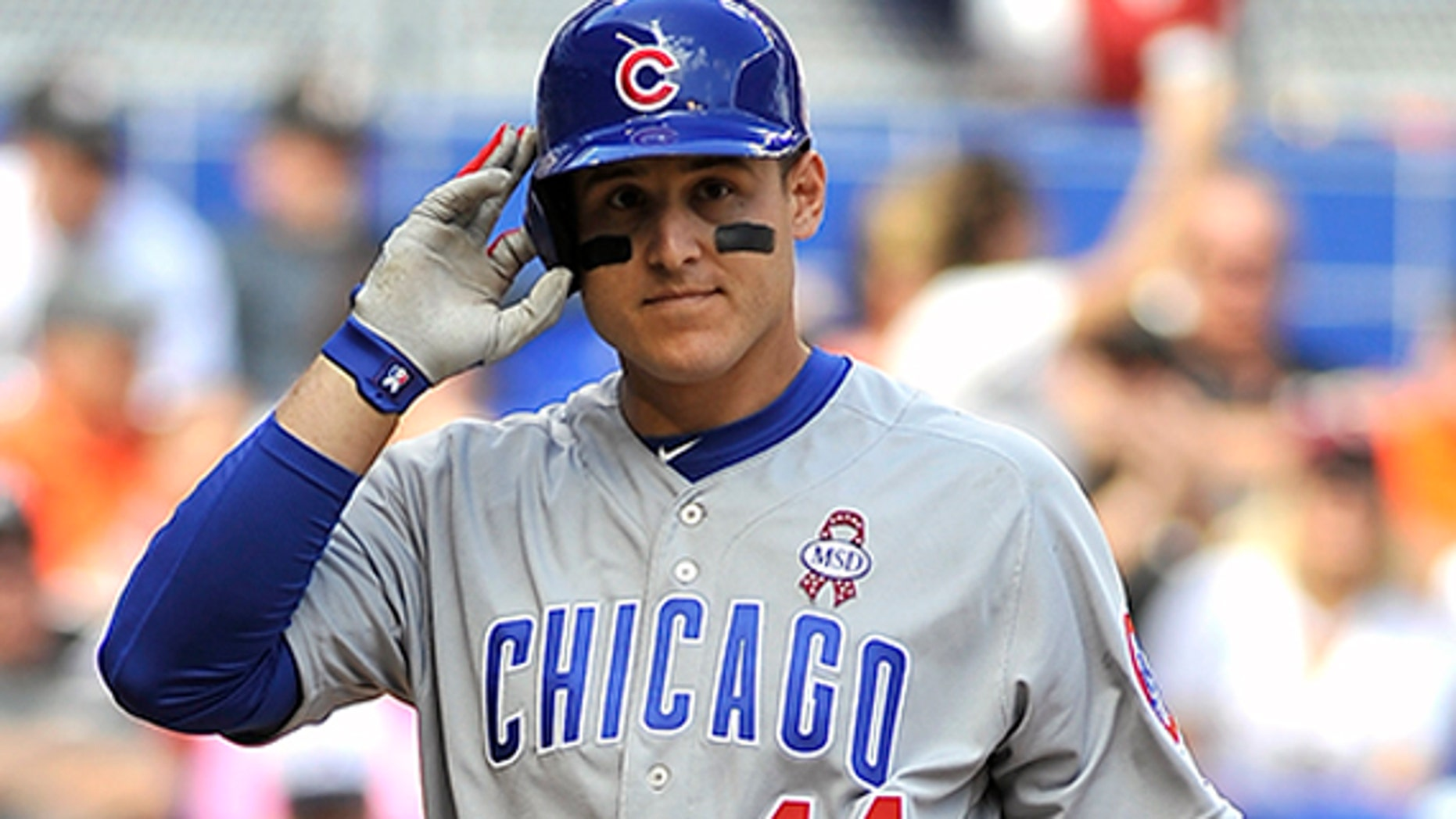 Anthony Rizzo, an alumnus of Marjory Stoneman Douglas High School, went 1-for-4 with a home run against the Marlins Thursday.