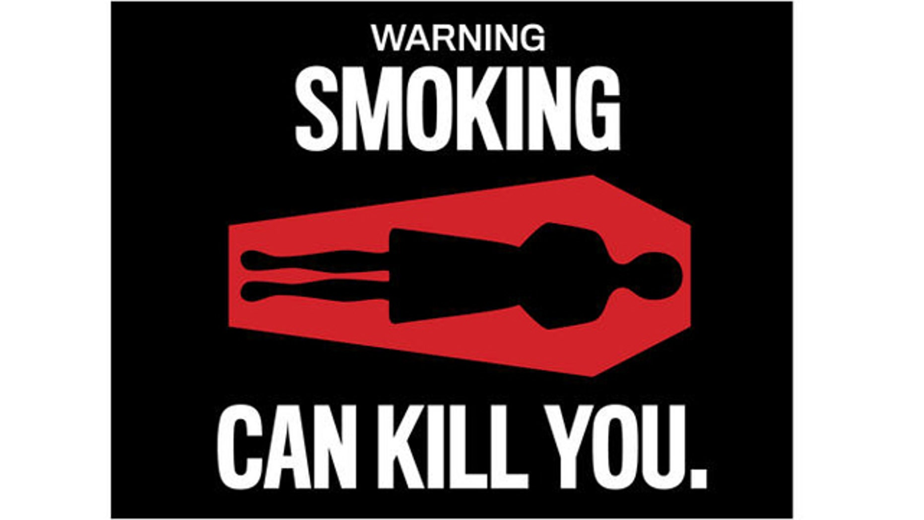 "FDA proposed Cigarette Warning label ""WARNING: Smoking can kill you."""