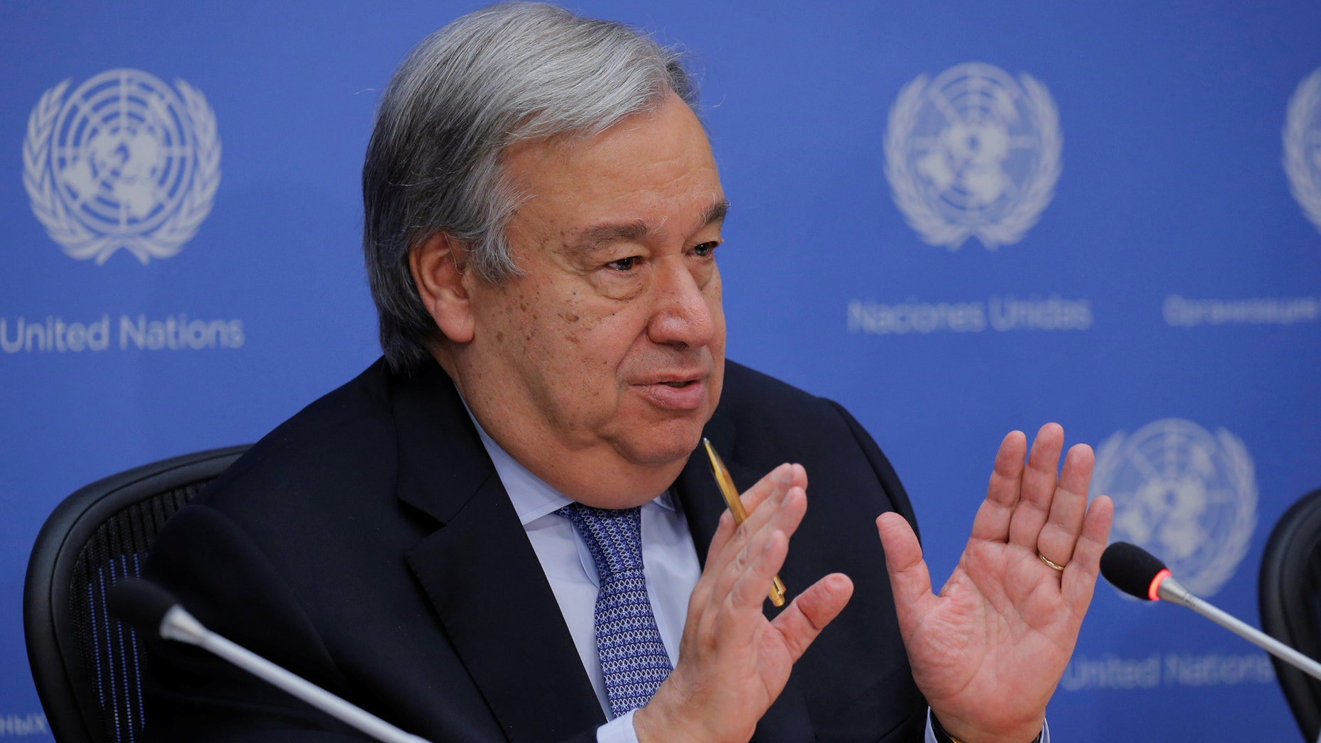 A spokesman for United Nations Secretary-General Antonio Guterres said the office has no authority over the UN forum.