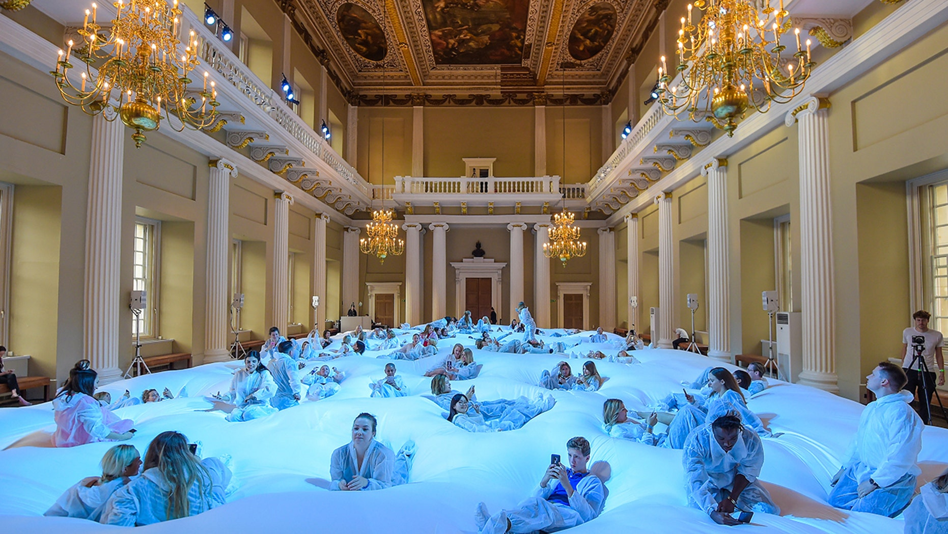Designer Anya Hindmarch intended the installation as a space for people to relax.