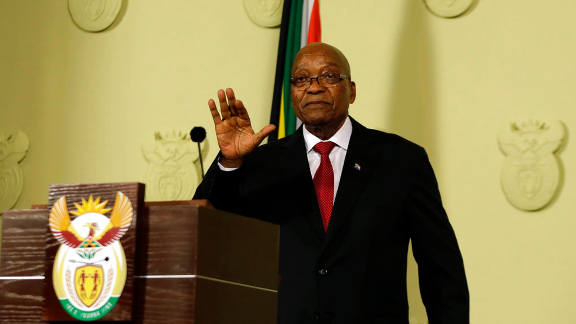 Jacob Zuma, in an address to the nation, resigned as president of South Africa.
