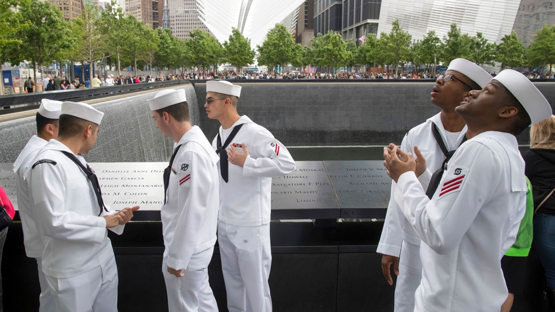 During Fleet Week 2017, Sailors, Marines and Coast Guardsmen visited the National 9/11 Memorial in New York.