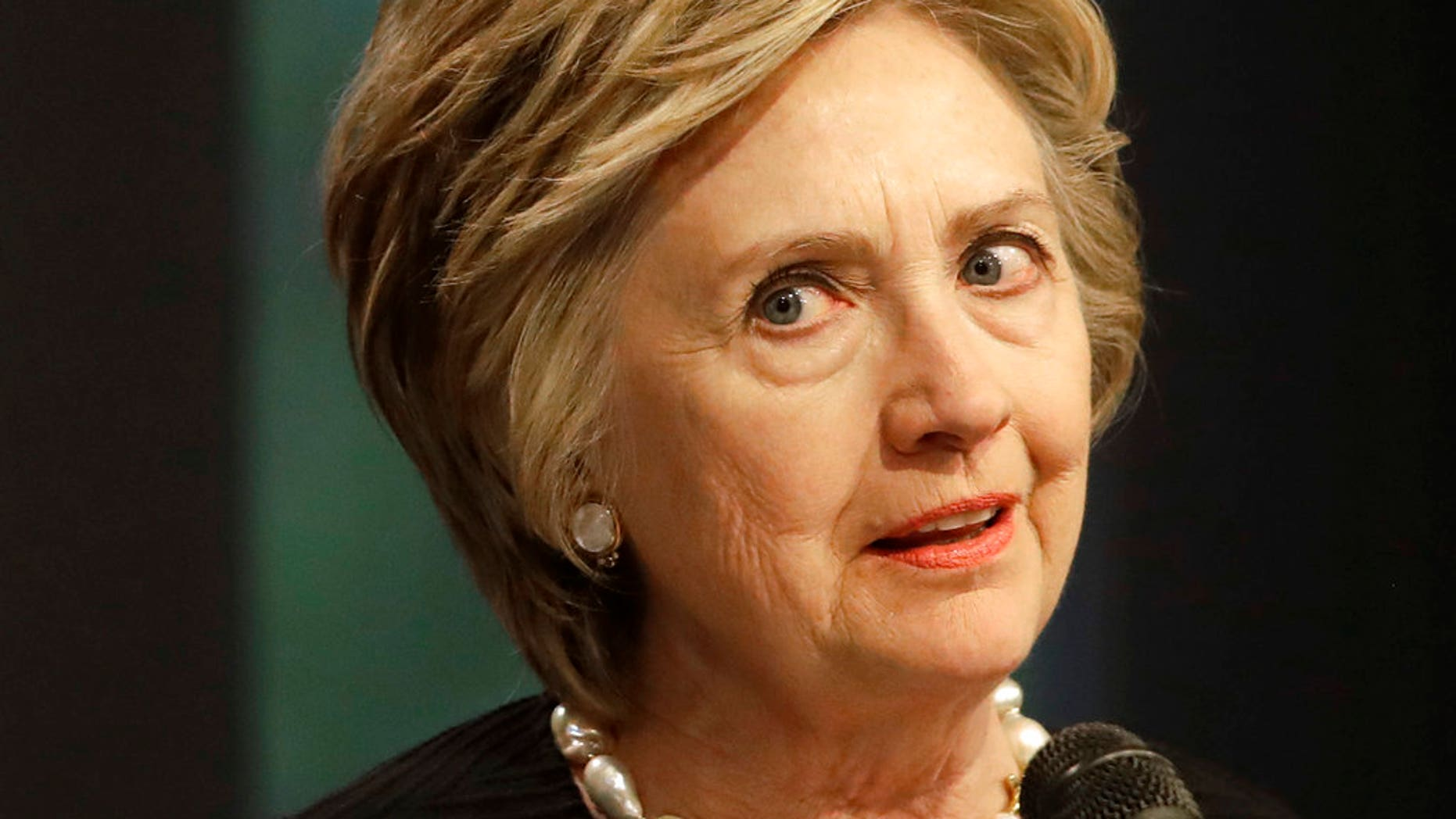 Former Secretary of State Hillary Clinton speaks at a fundraiser for the Elijah Cummings Youth Program in Israel in Baltimore, Monday, June 5, 2017. (AP Photo/Patrick Semansky)