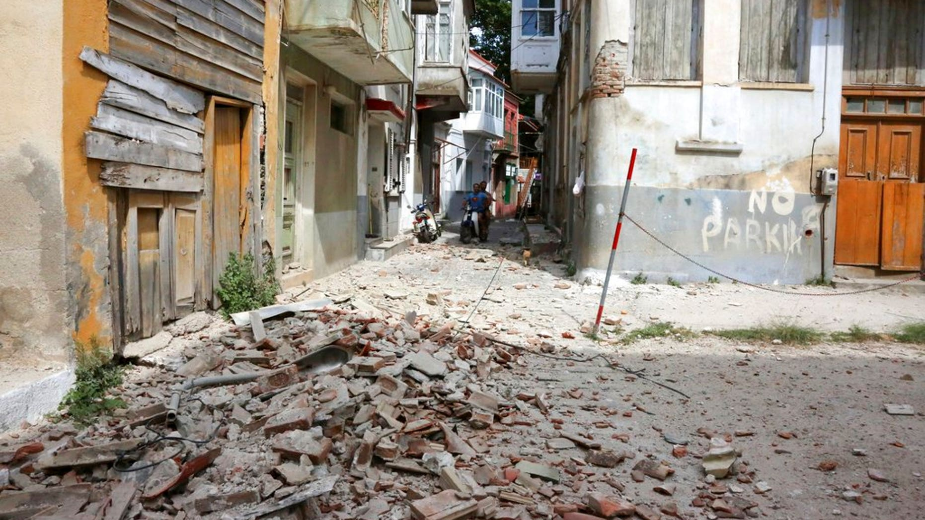 An earthquake with a preliminary magnitude of 6.2 shook western Turkey and the Greek island of Lesbos on Monday, a Turkish government agency said. (Associated Press)