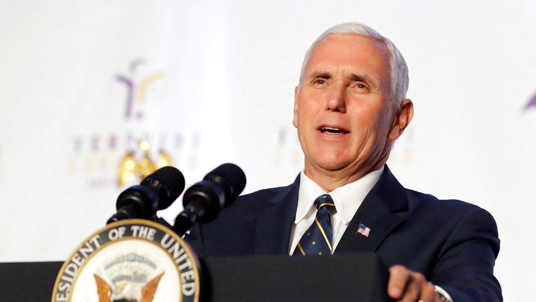 Vice President Mike Pence condemned the Charlottesville rallies, stating the U.S. has no tolerance for hate and violence from white supremacists.