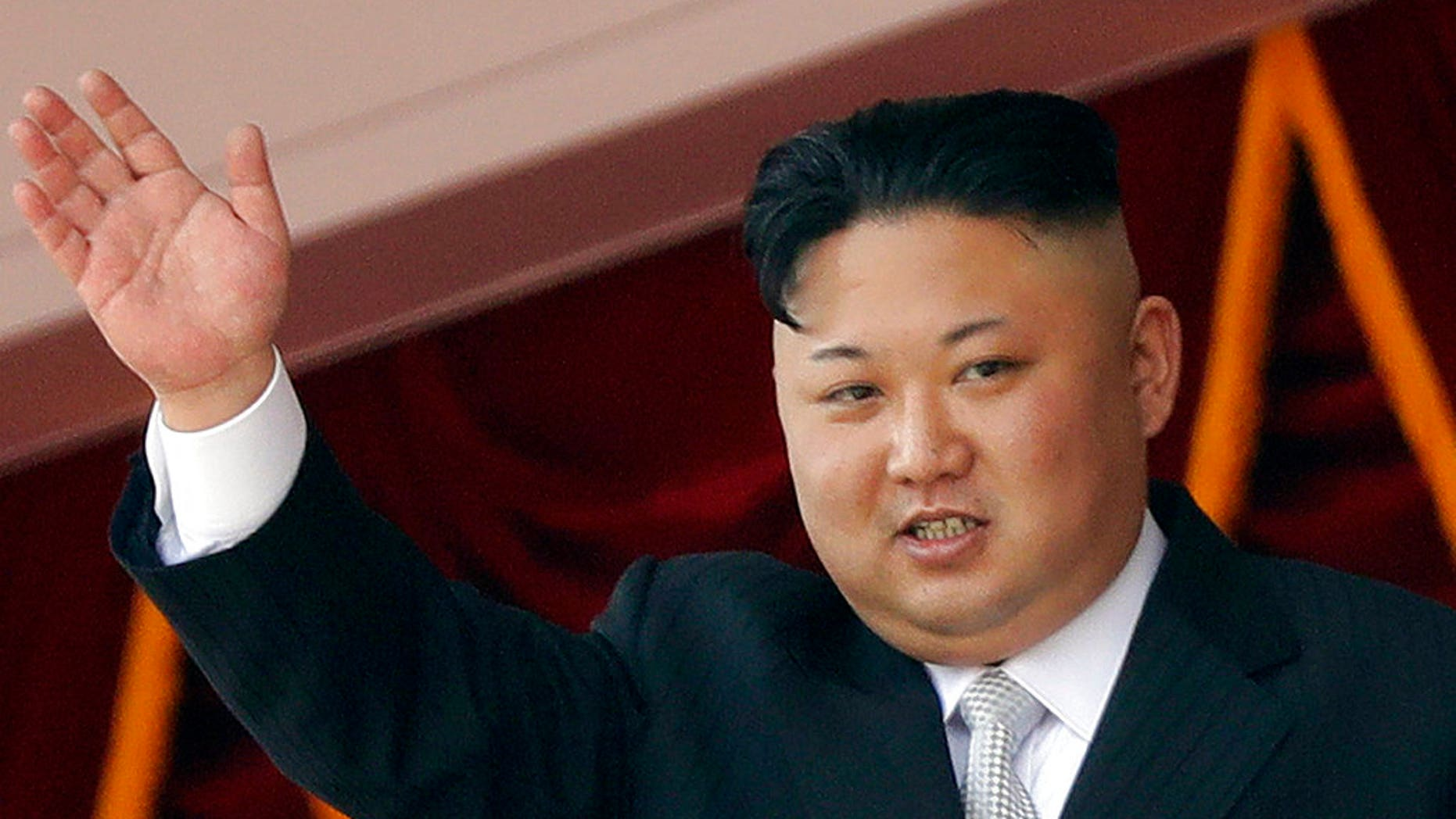 In this April 15, 2017, file photo, North Korean leader Kim Jong Un waves during a military parade in Pyongyang, North Korea. South Korea's military said Friday, Sept. 15, 2017 North Korea fired an unidentified missile from its capital Pyongyang that flew over Japan before landing in the northern Pacific Ocean.