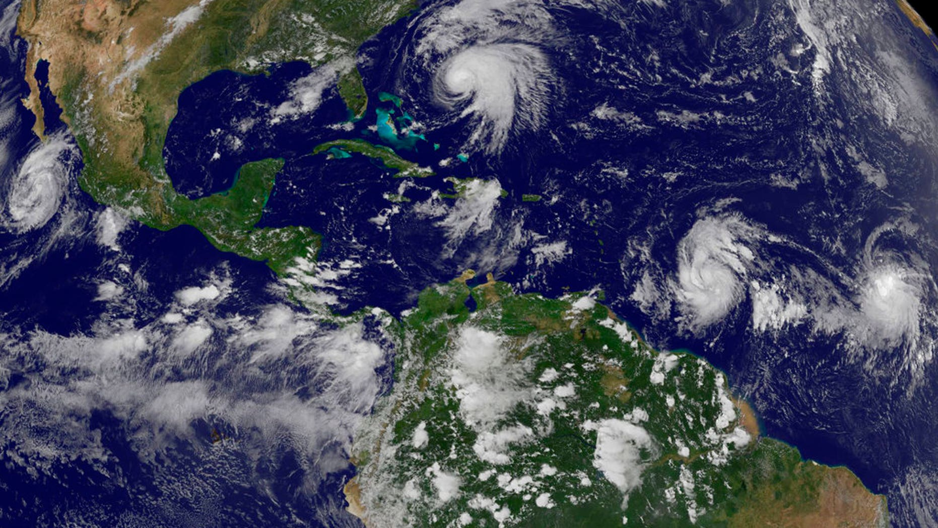 Tropical Storm Maria strengthened Sunday into a Category 1 hurricane.