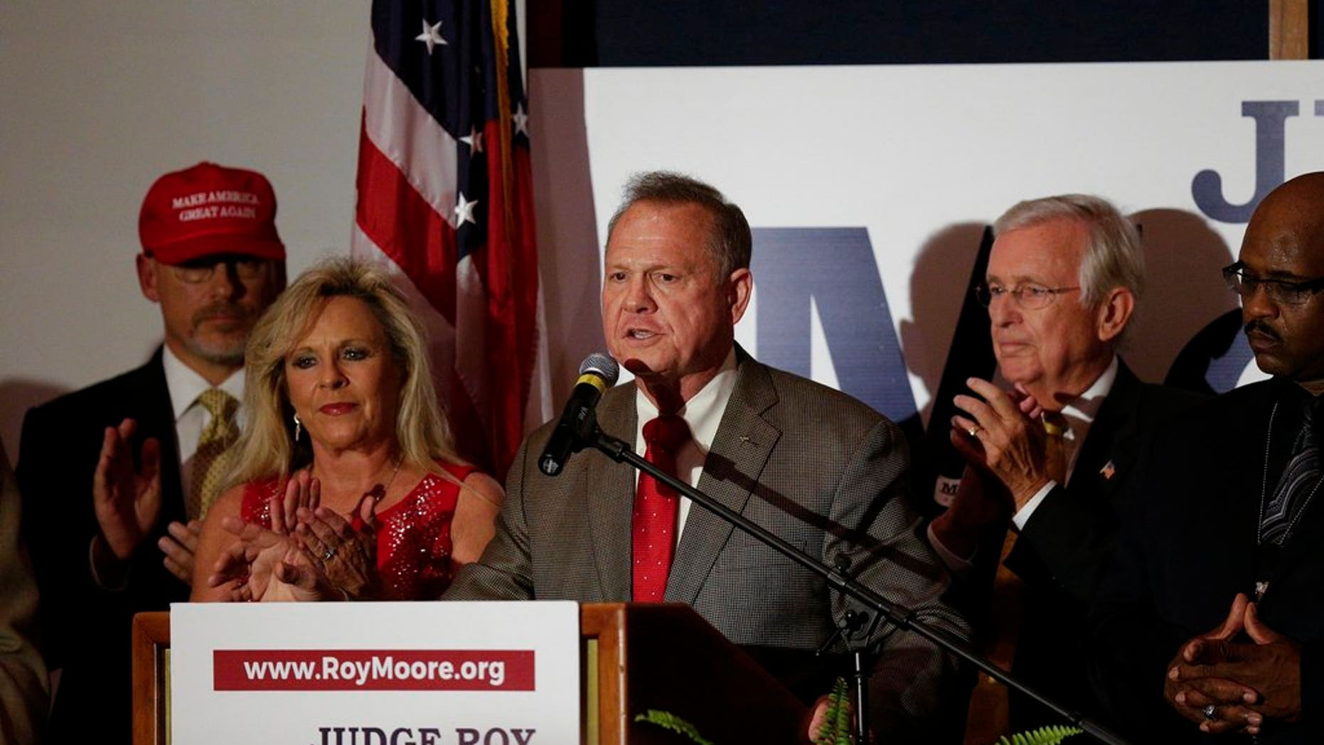 Kayla Moore is one of her husband's most vocal defenders.
