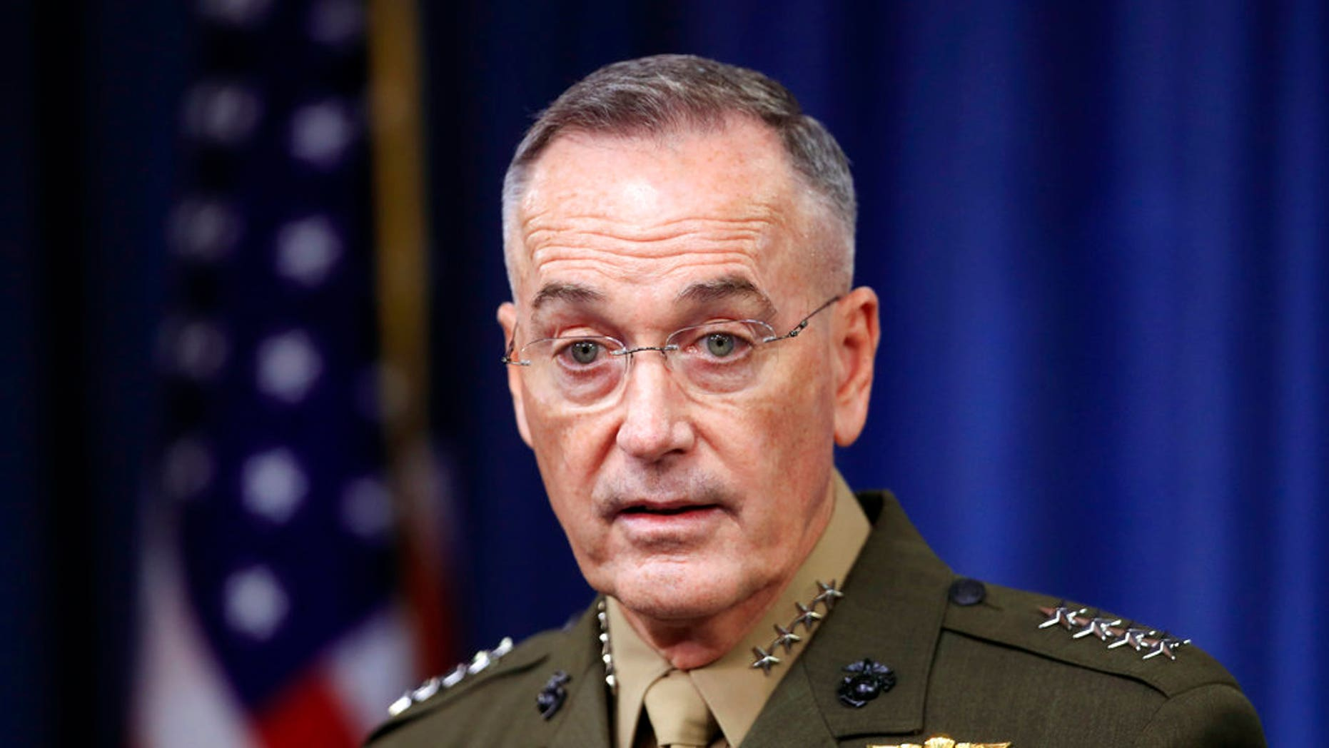 """Joint Chiefs Chairman Gen. Joseph Dunford said the fall of Raqqa represents """"an inflection point, it's not the end of the campaign."""""""