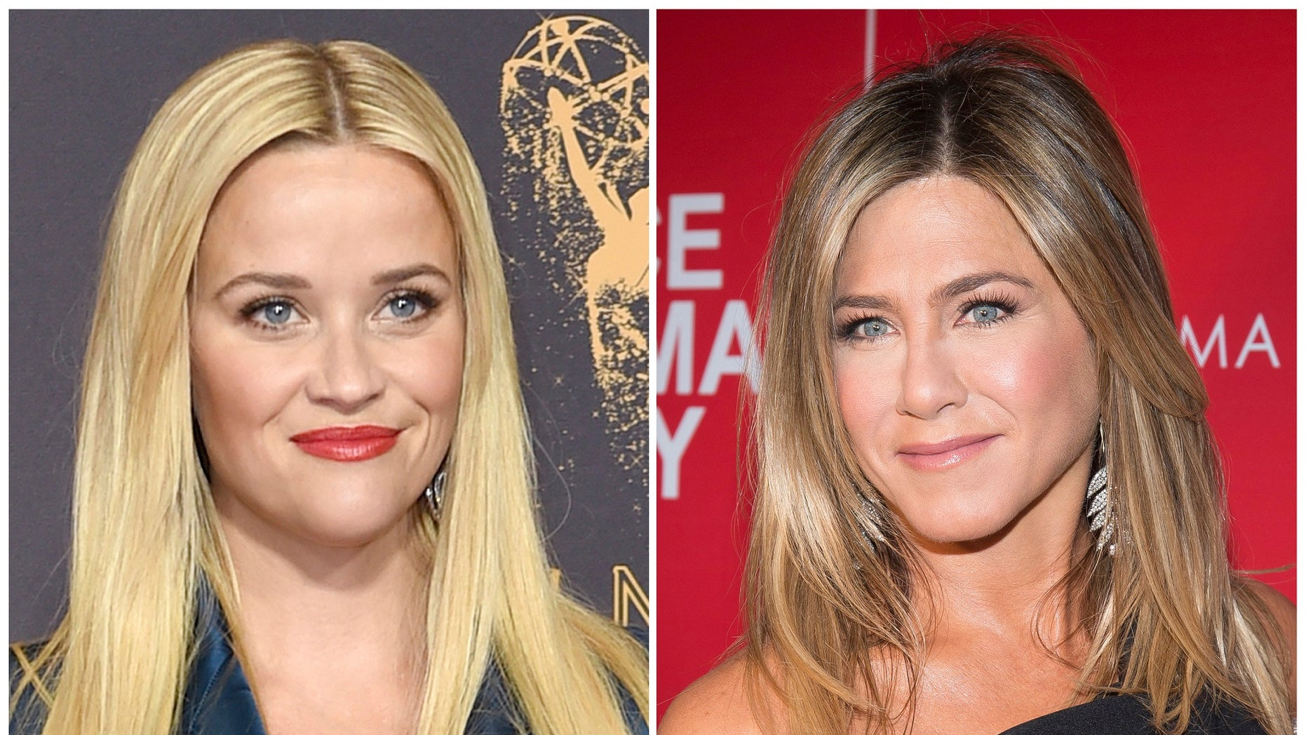"""Actresses Reese Witherspoon (left) and Jennifer Aniston (right) are among those in the entertainment industry behind the launch of """"Time's Up."""""""