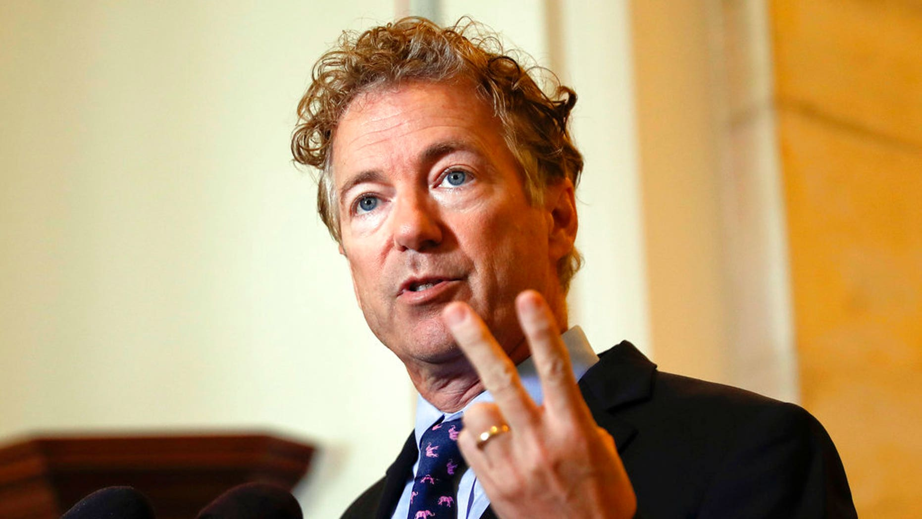 U.S. Sen. Rand Paul says he plans to introduce a bill to fund domestic infrastructure projects using suspended foreign aid to Pakistan.
