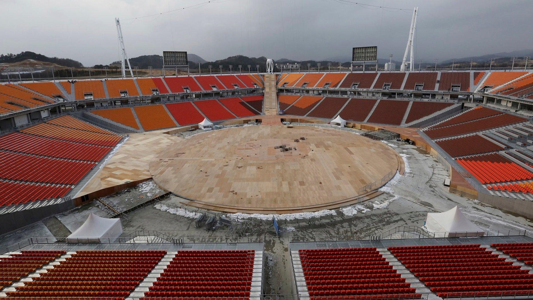 The Pyeongchang Olympic Stadium is an open-air stadium. A request to add a roof was denied.