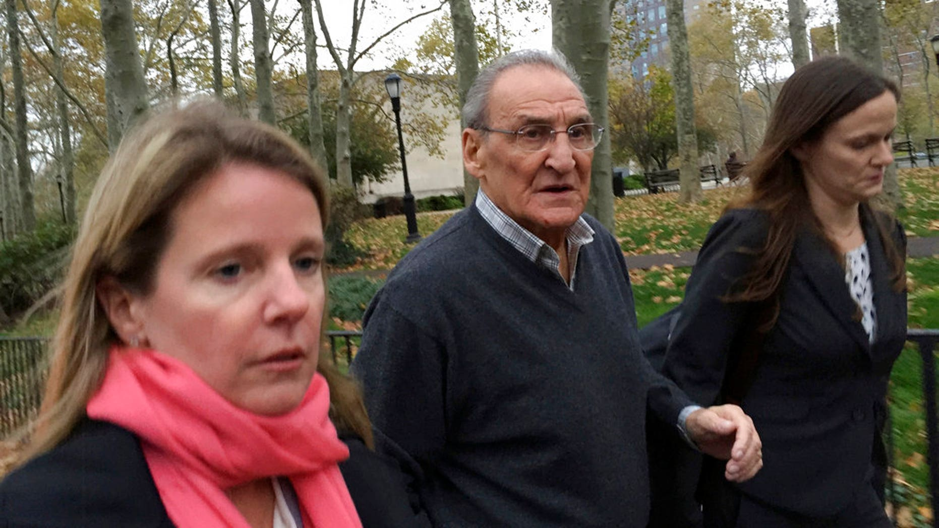 Vincent Asaro is pictured leaving a Brooklyn, N.Y., courthouse, Nov. 12, 2015.