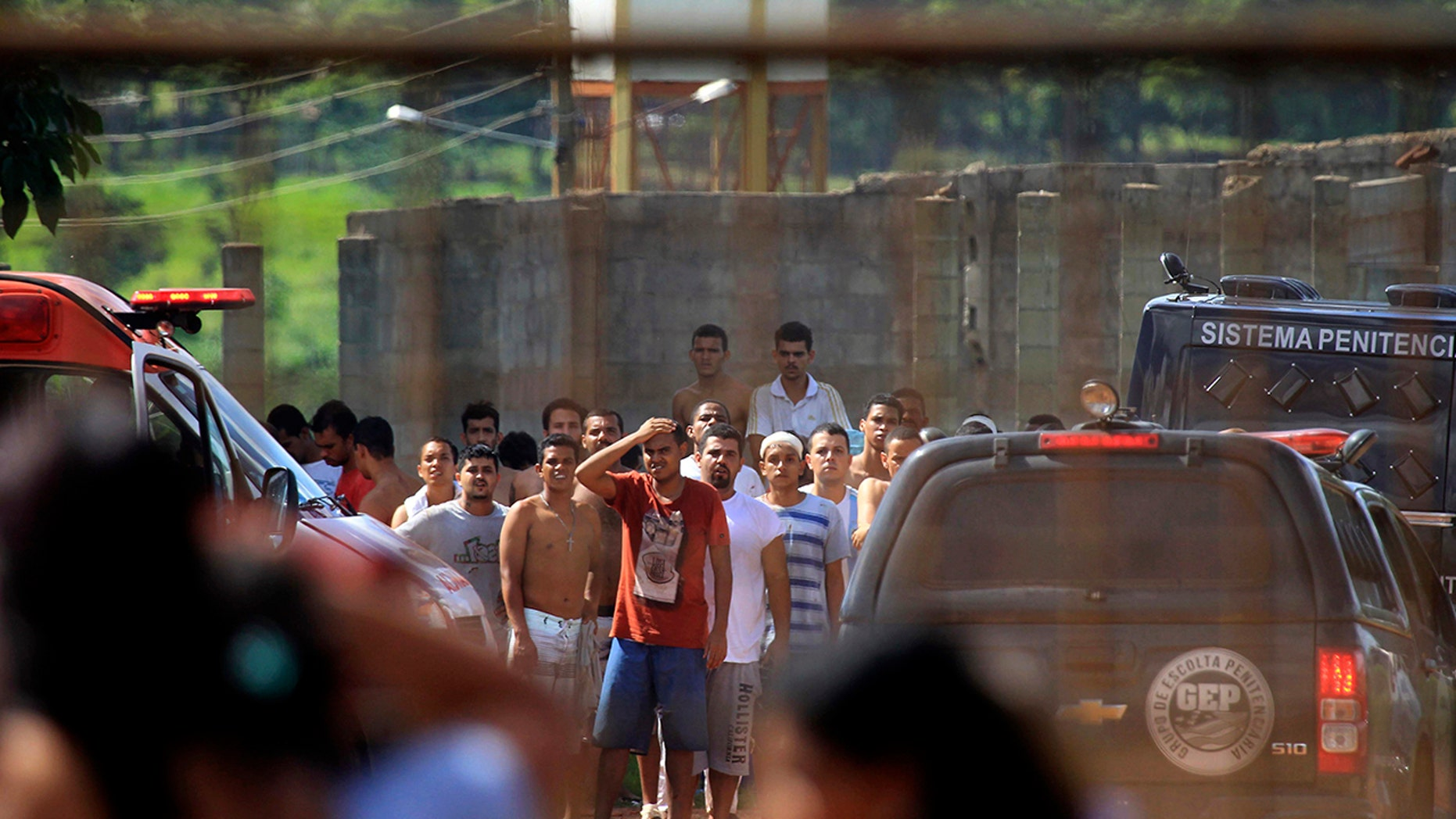 Brazilian police are searching for 99 inmates they said escaped following a prison riot that left nine dead.