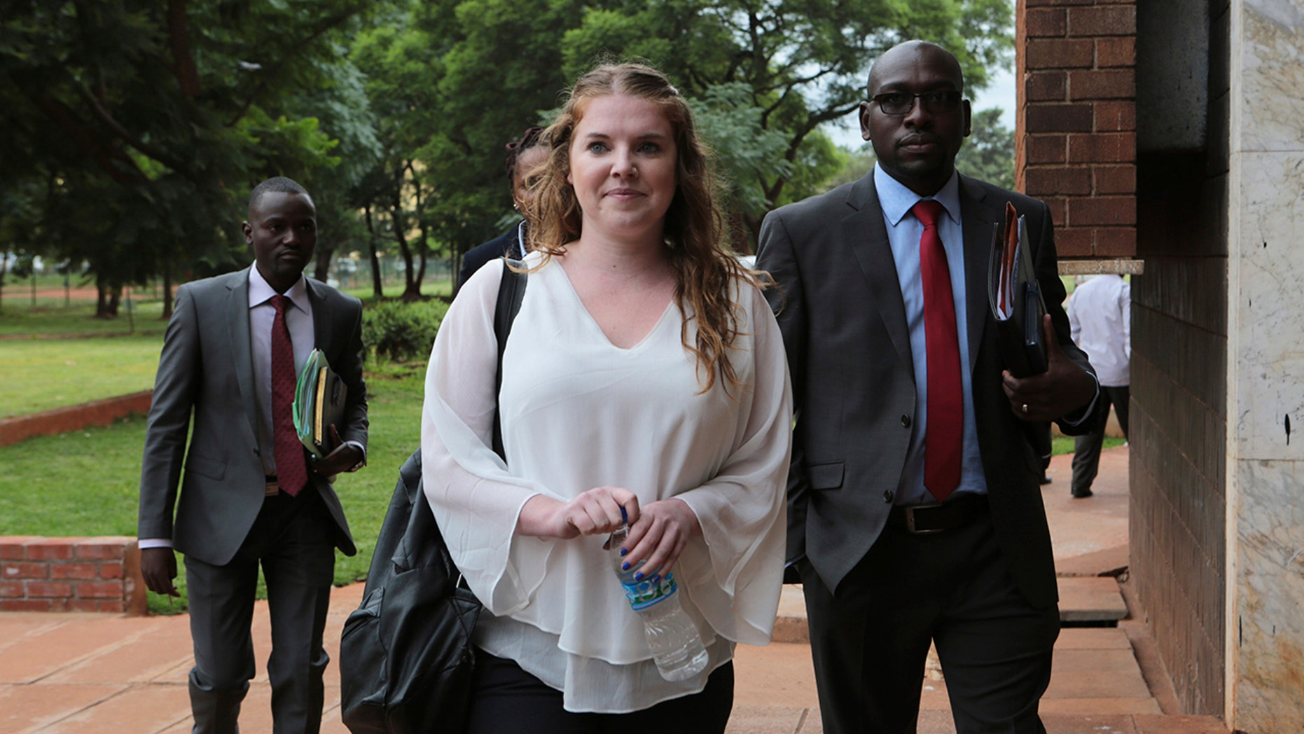 """Martha O' Donovan, 25, who was charged with subversion for allegedly describing the former Zimbabwe president as a """"sick man,"""" was freed """"for now""""."""