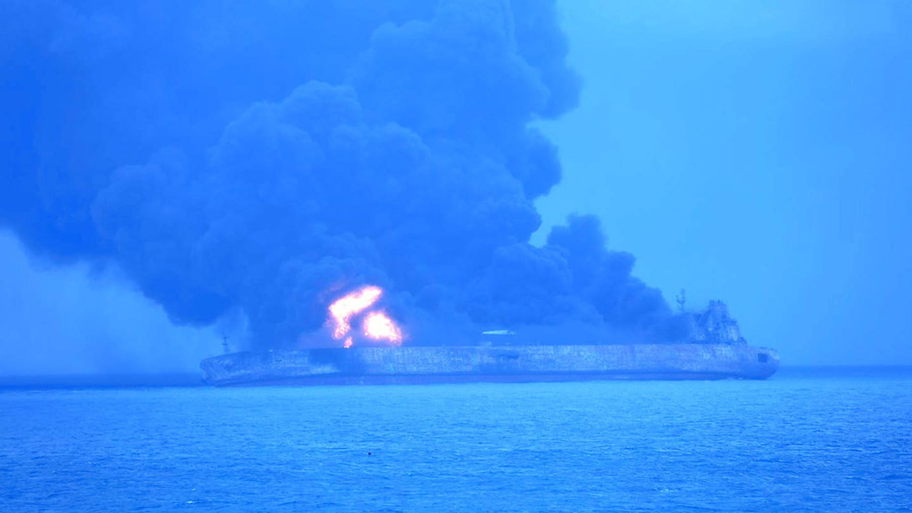 """Panama-registered tanker """"Sanchi"""" went ablaze after it collided with a freighter off China's eastern coast late Saturday."""