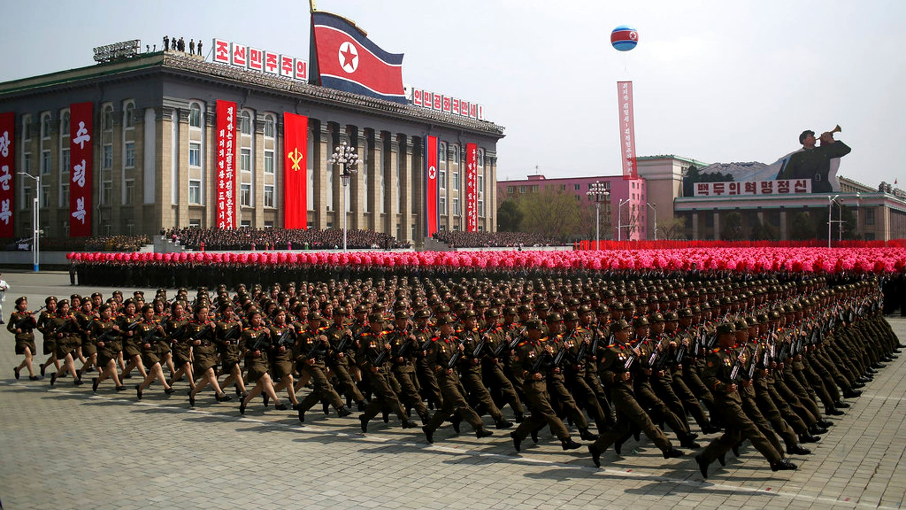 North Korea is preparing to stage a major event on Feb. 8, 2018, to commemorate the 70th anniversary of its military's founding -- just one day before the opening ceremony of the Winter Olympics in South Korea.