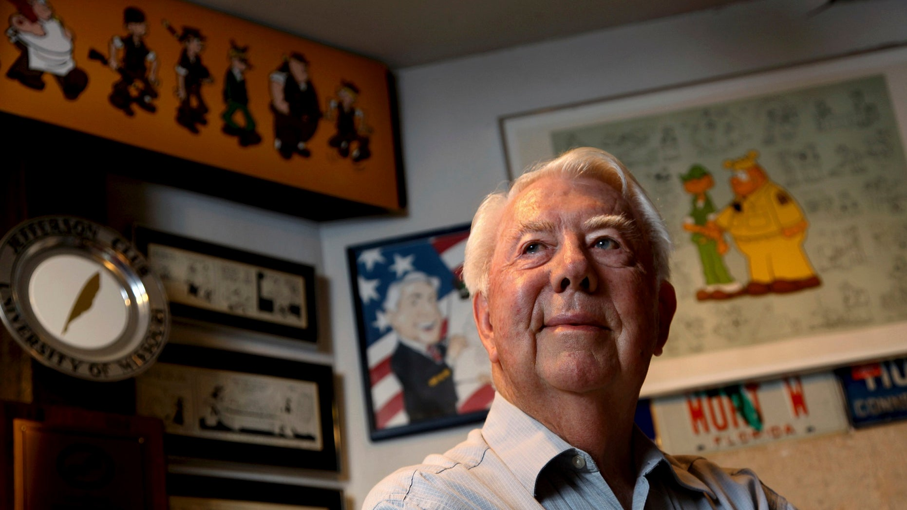 Mort Walker, the artist and author of the Beetle Bailey comic strip, died Saturday at age 94, his family confirmed.