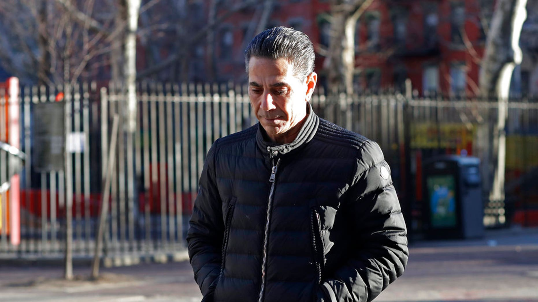 """Joseph """"Skinny Joey"""" Merlino, 55, was reprimanded by a judge for greeting a juror by name outside his federal trial."""