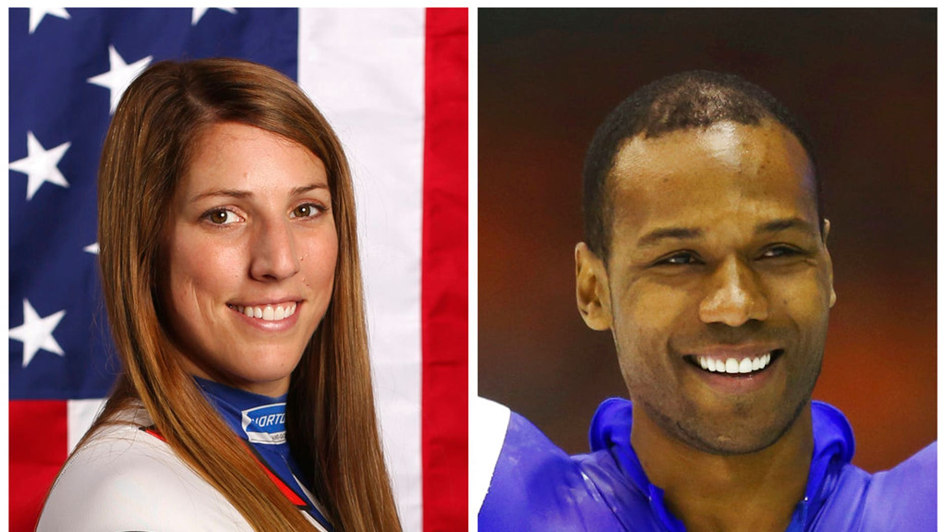 A tweet posted to the account of Shani Davis, right, is blasting the selection of luger Erin Hamlin as the U.S. flagbearer for Friday's opening ceremony for the Winter Olympics in South Korea.