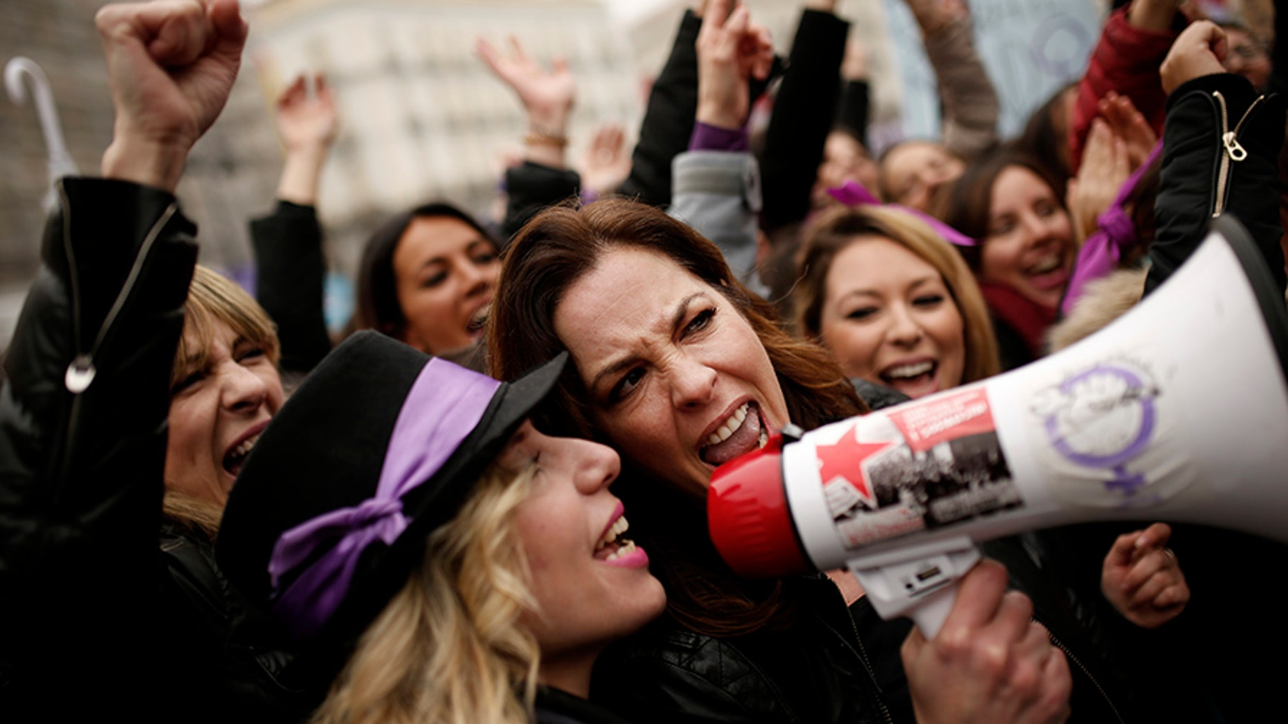 Women across the world are marking International Women's Day with protests and marches.