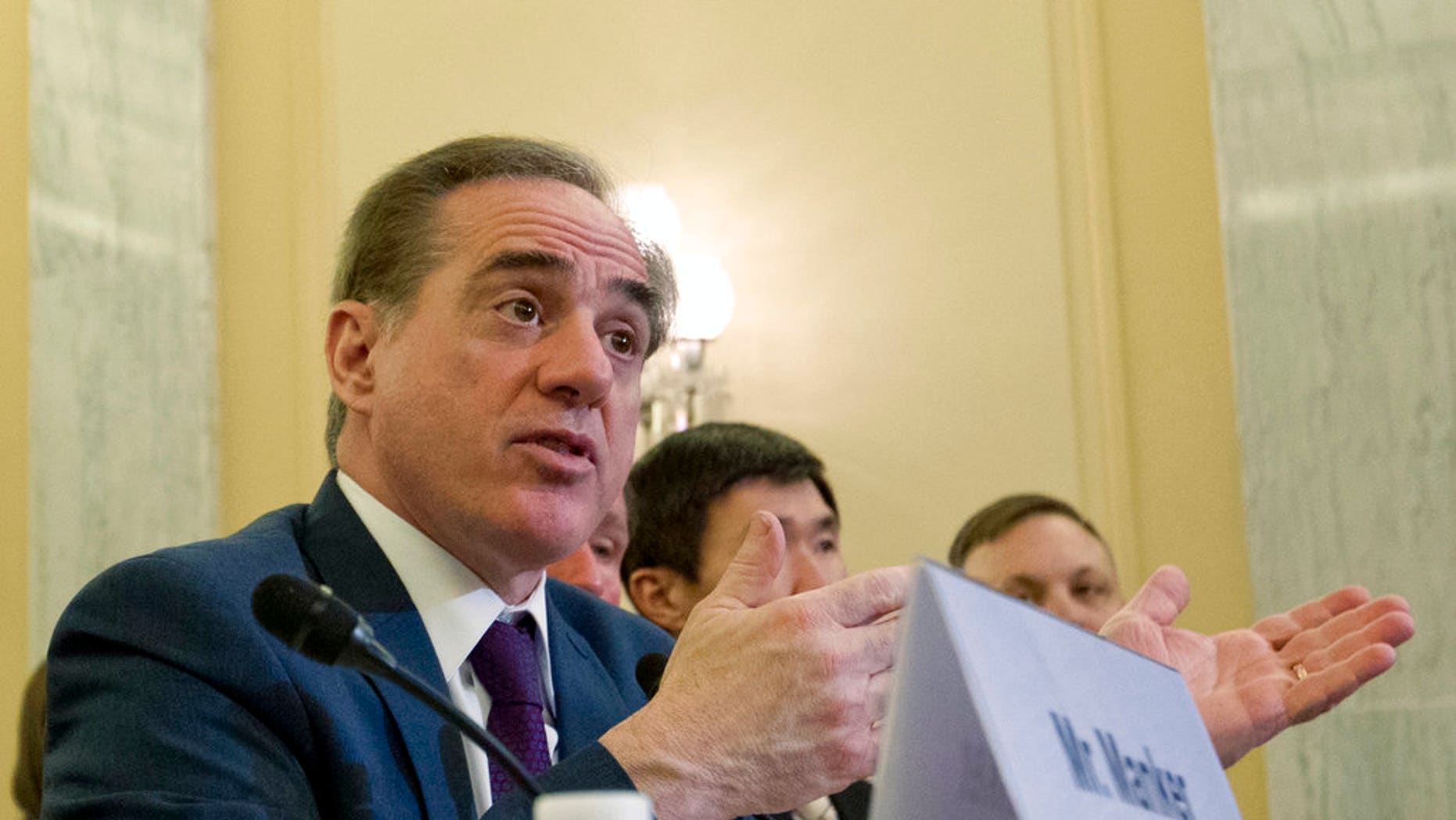 Former VA Secretary David Shulkin, pictured, was accused of neglecting cries for help from officials at a VA hospital in Manchester, NH.