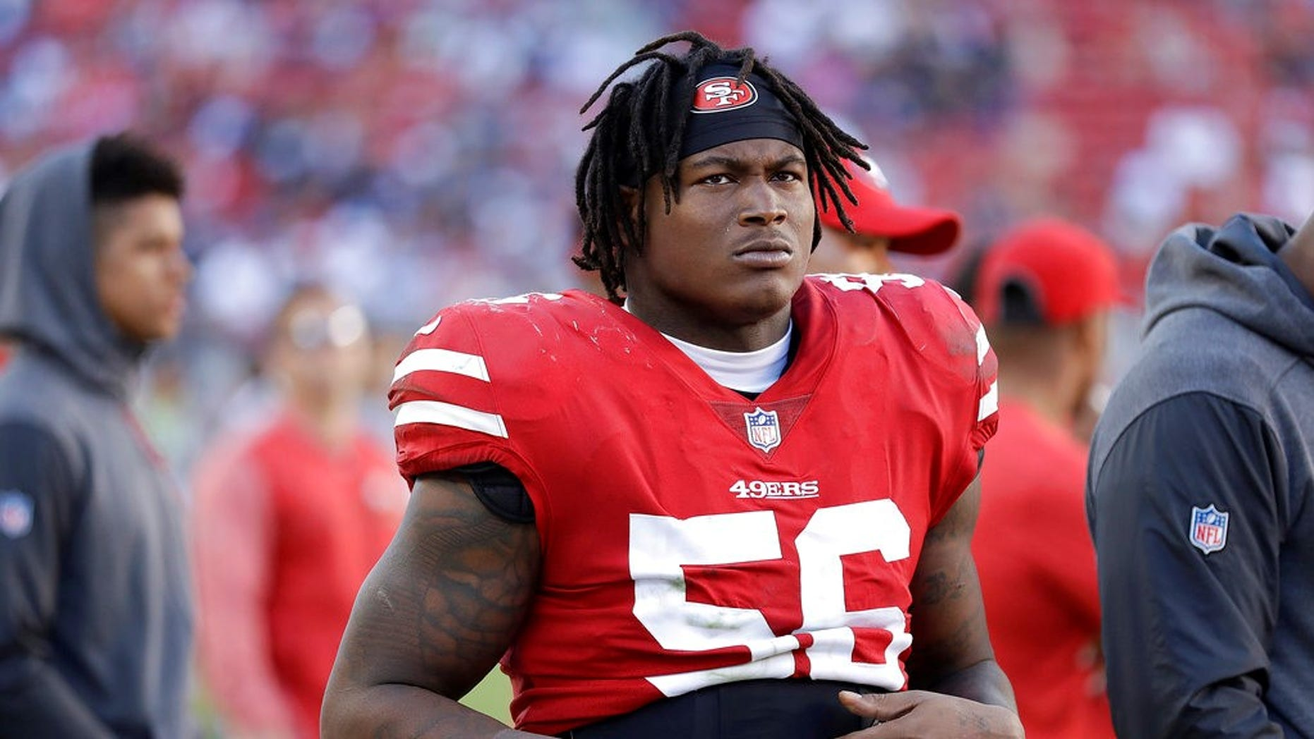 Reuben Foster was charged after an altercation involving his live-in girlfriend in California.