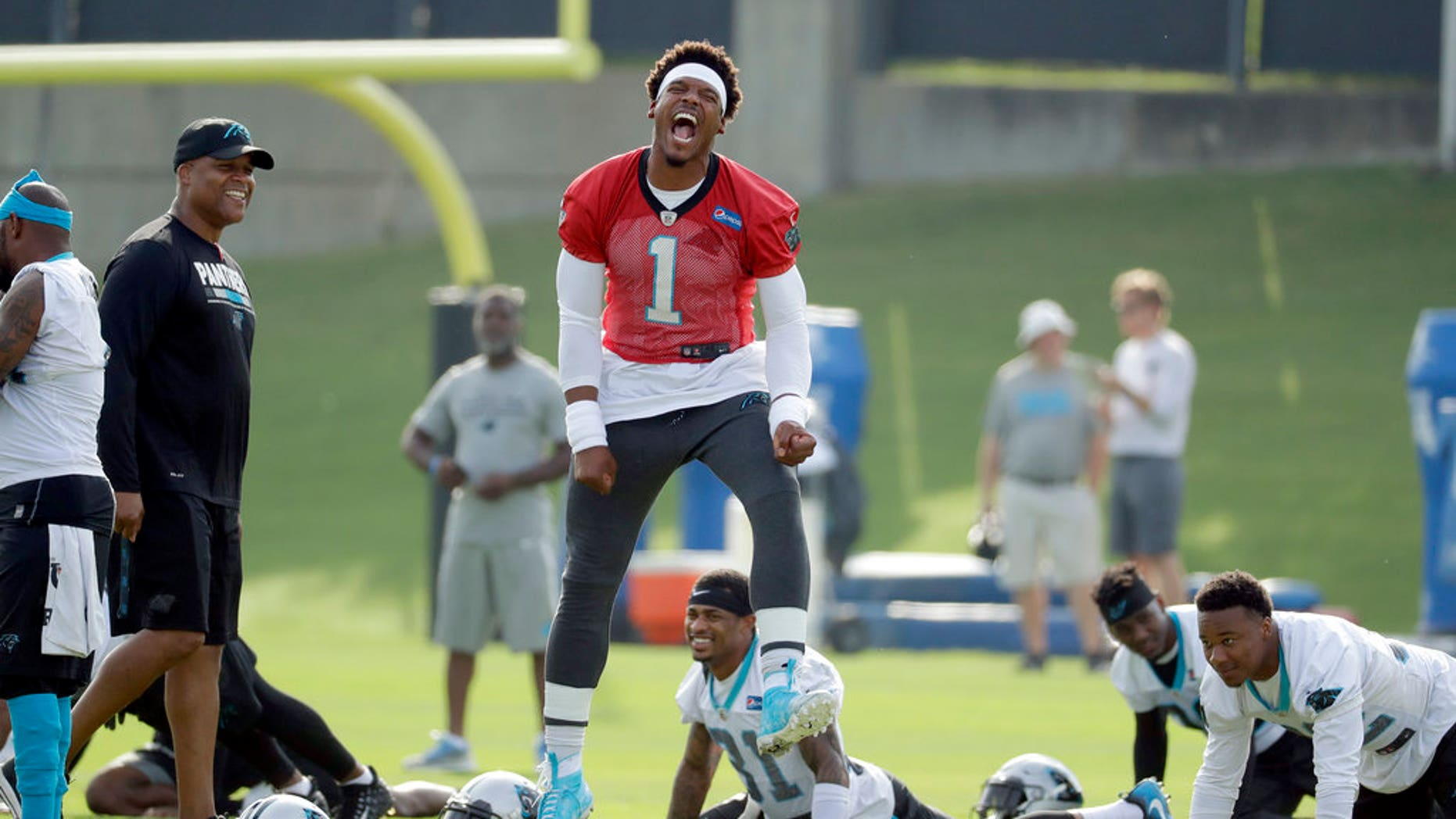 another chance fe97d 1ea69 Panthers quarterback Cam Newton snaps at kid who mocked him ...