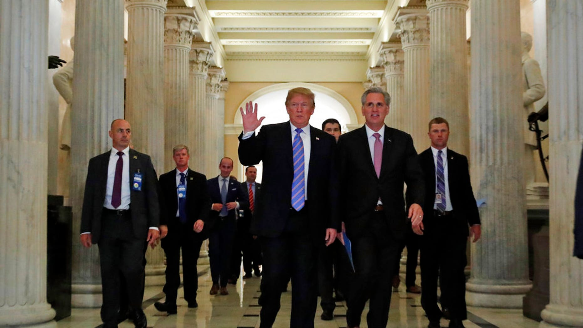resident Trump and House Majority Leader Kevin McCarthy of California at the Capitol on Wednesday.