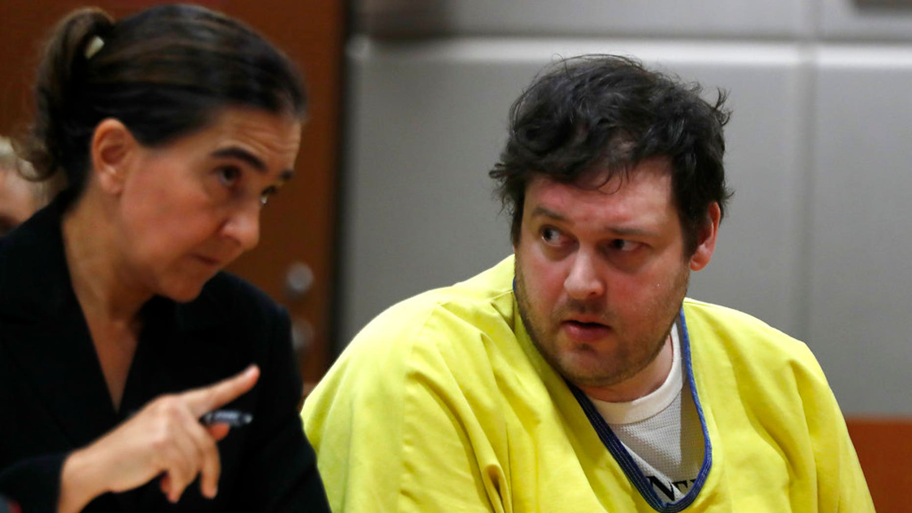 Blake Leibel, right, was sentenced to life in prison without the possibility of parole, in Los Angeles, June 26, 2018.