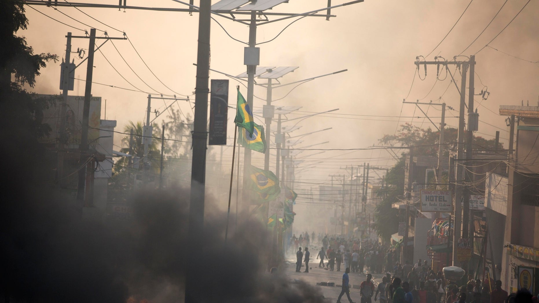 Major protests erupted Friday in Haiti as the government announced a sharp increase in gasoline prices, with demonstrators using burning tires and barricades to block major streets across the capital and in the northern city of Cap-Haitien.