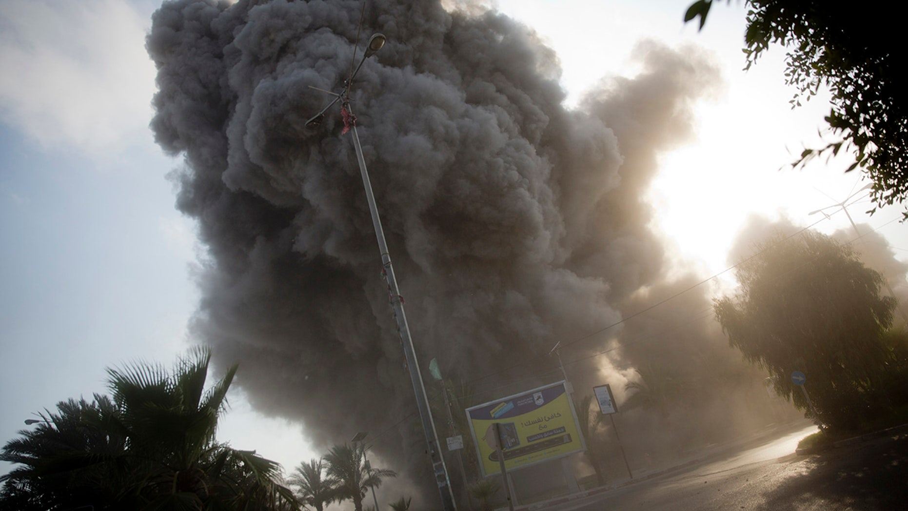 The Israeli military carried out its largest daytime airstrike campaign in Gaza since the 2014 war as Hamas militants fired dozens of rockets into Israel, threatening to spark a wider conflagration after weeks of tensions along the volatile border.